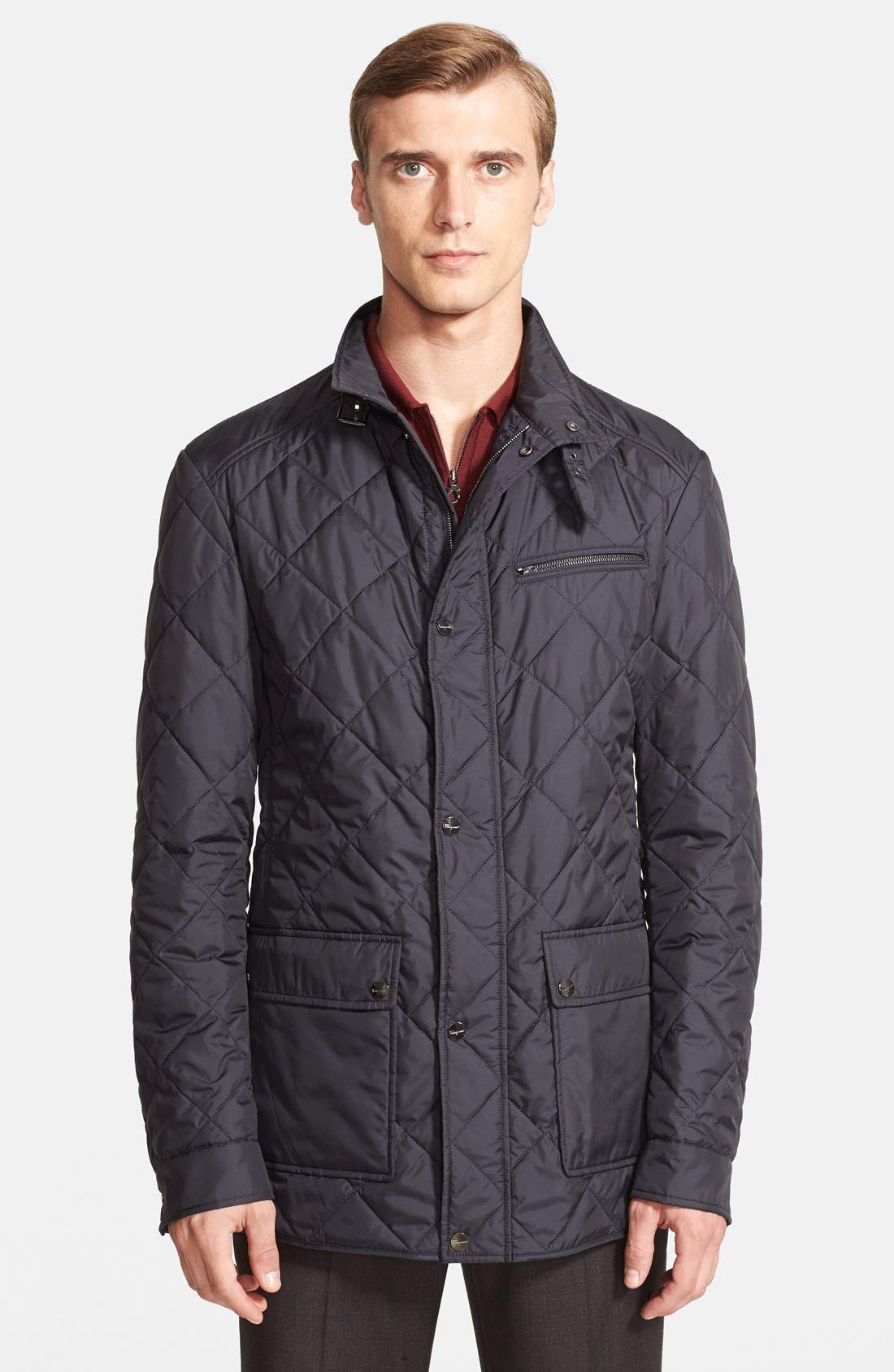 Regular Fit Quilted Jacket, Main, color, 411