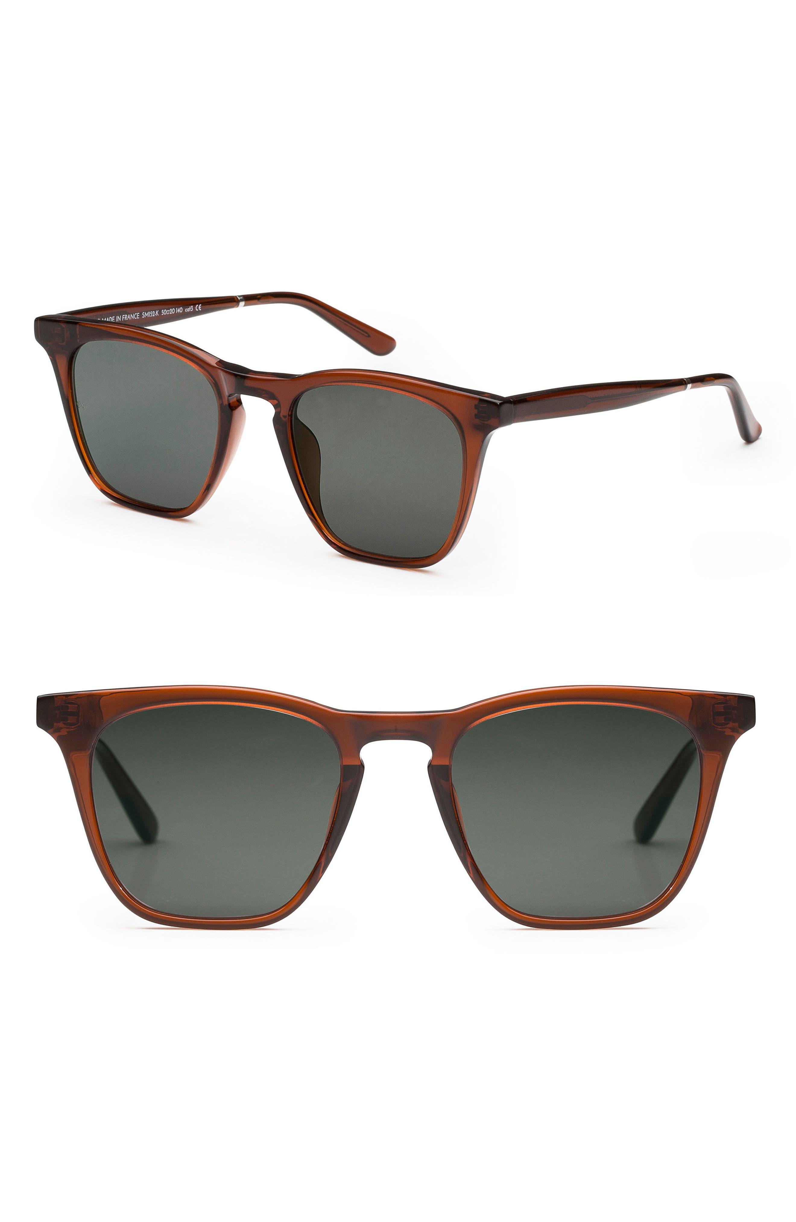 Rocket 88 50mm Square Sunglasses,                             Main thumbnail 3, color,