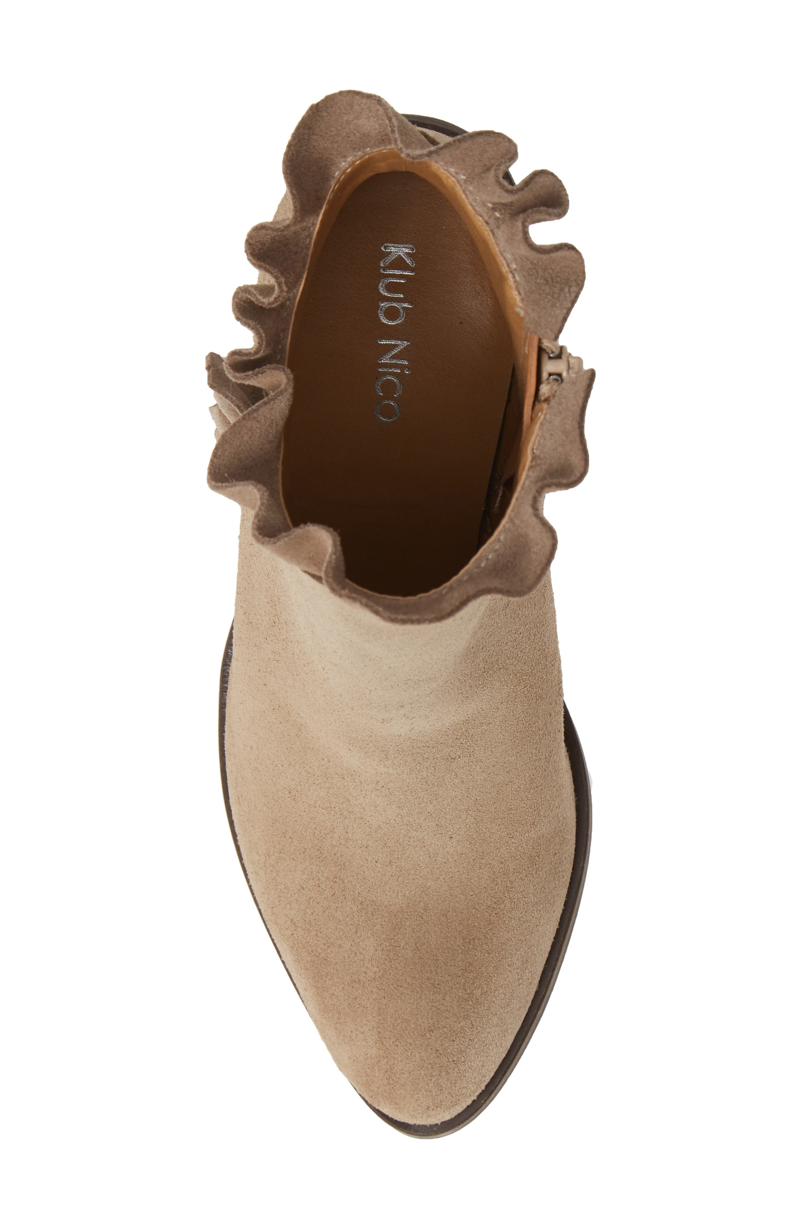 Bellamy Bootie,                             Alternate thumbnail 5, color,                             TAUPE SUEDE