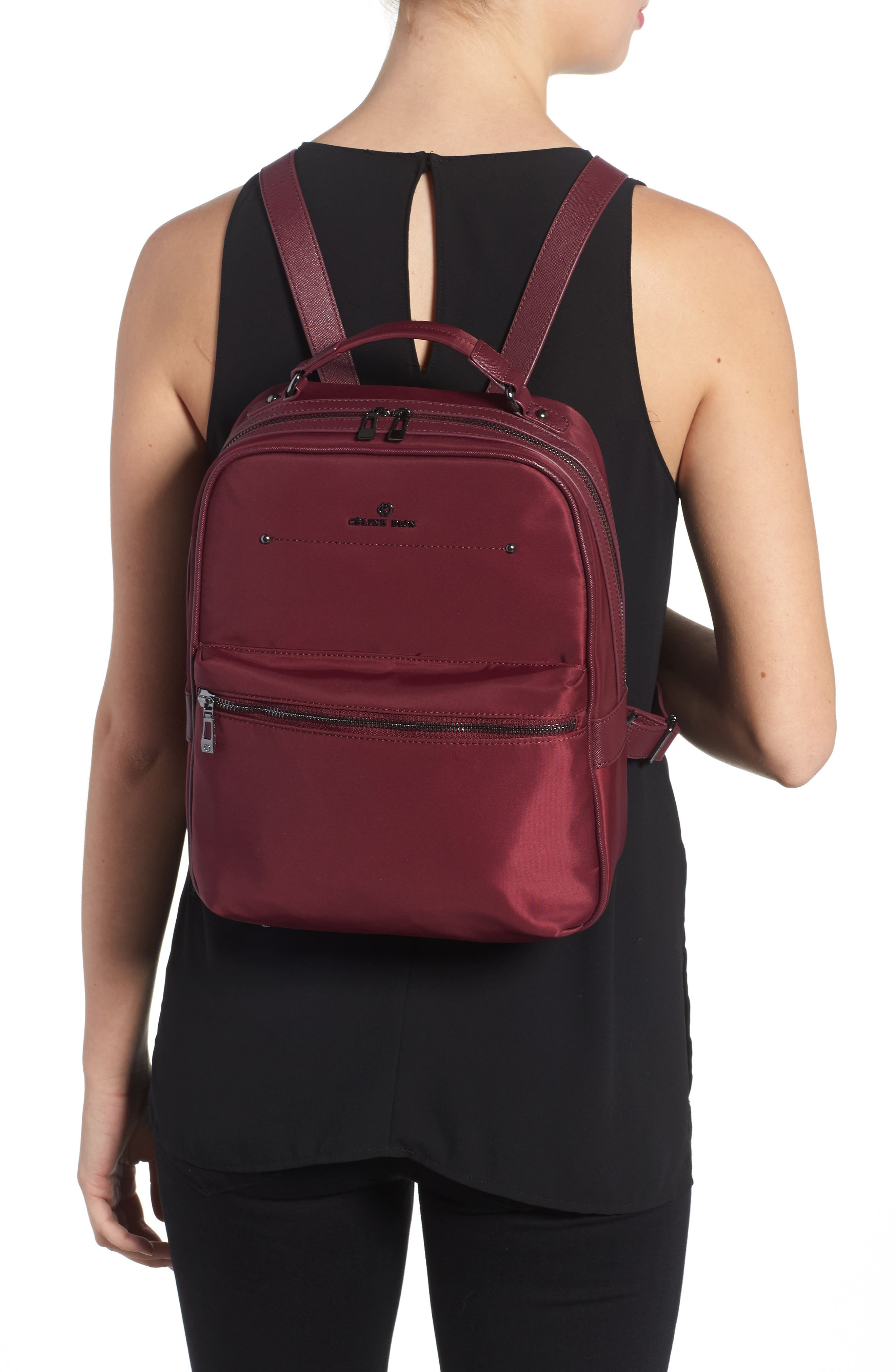 Céline Dion Presto Nylon Backpack,                             Alternate thumbnail 8, color,