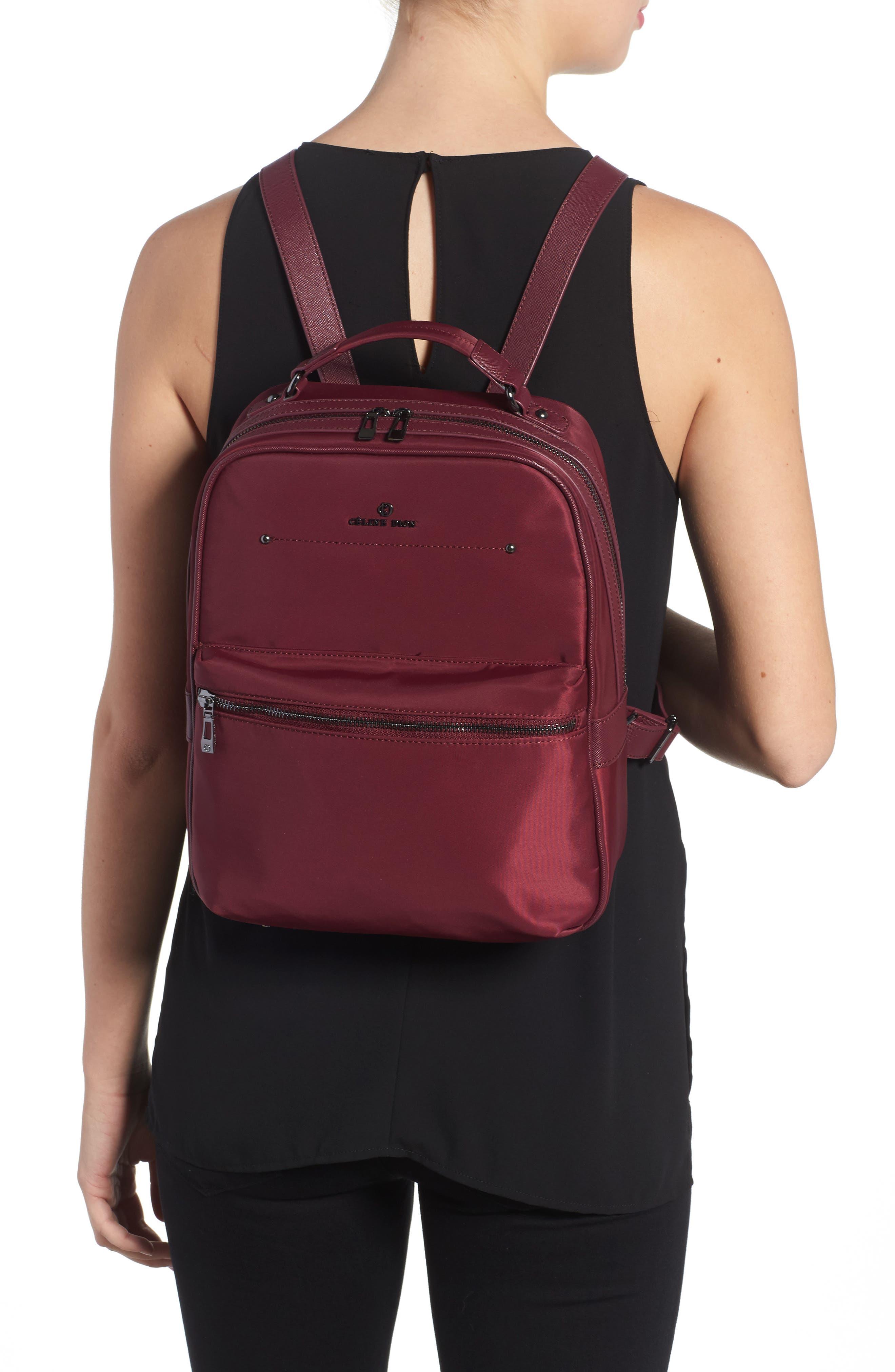 Céline Dion Presto Nylon Backpack,                             Alternate thumbnail 8, color,
