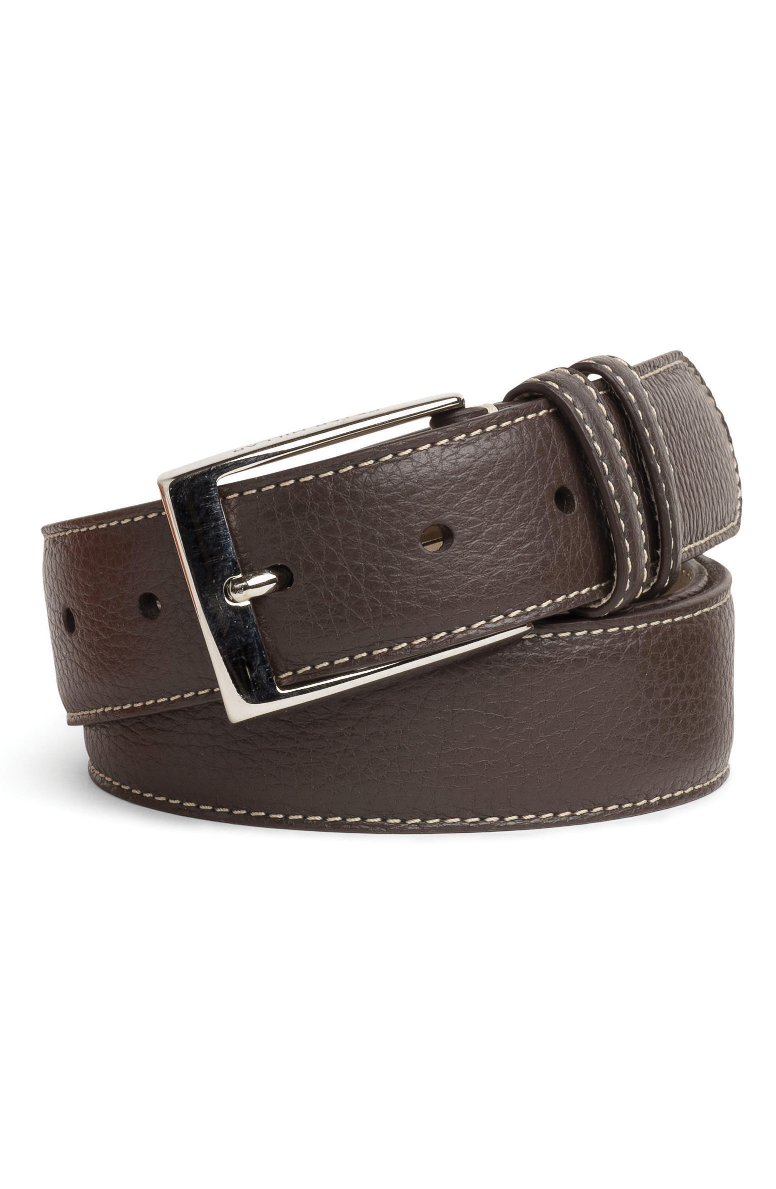 Pebbled Leather Belt,                             Main thumbnail 2, color,