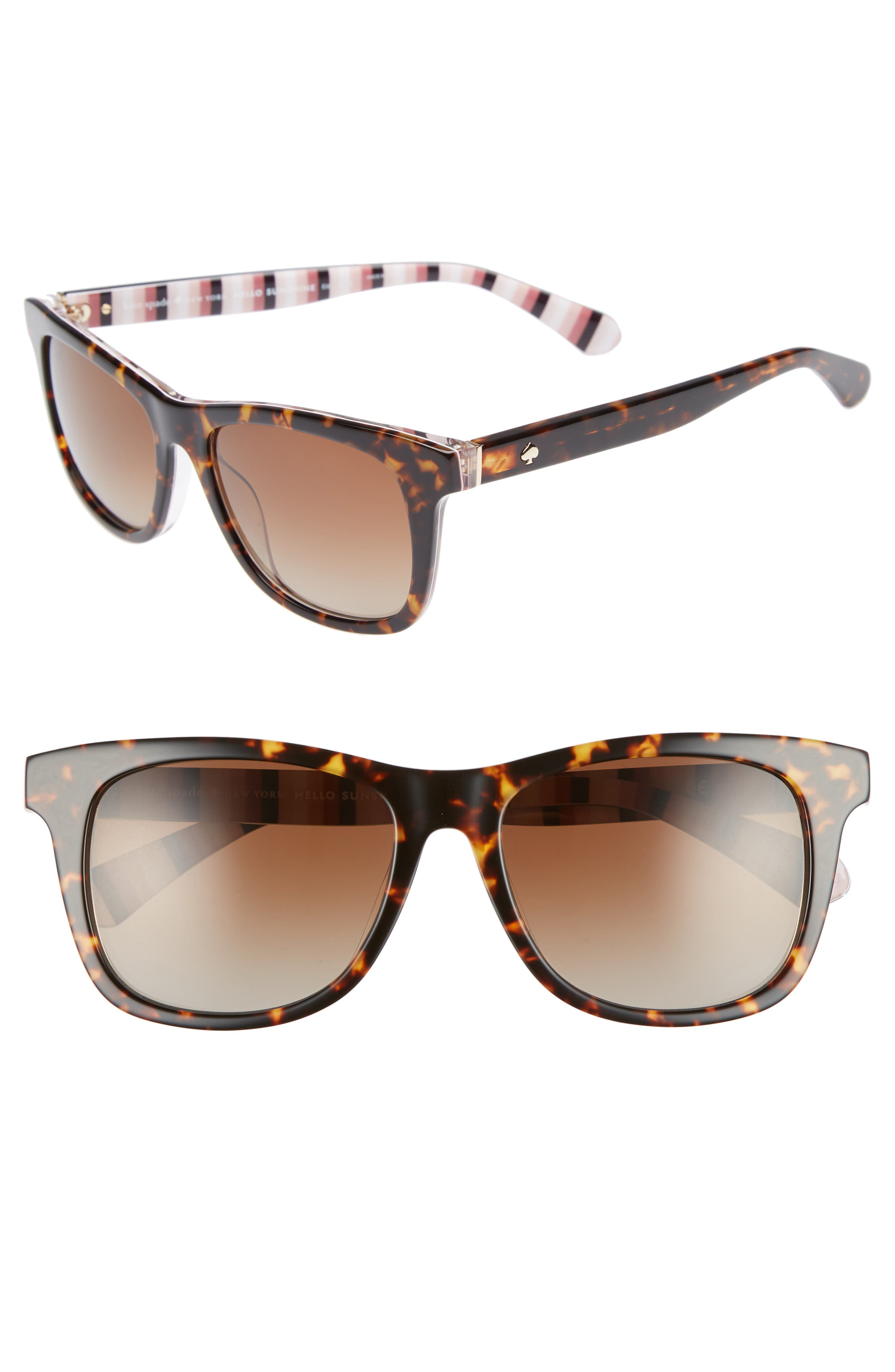 charmine 53mm gradient lens sunglasses,                         Main,                         color, HAVANA PATTERN