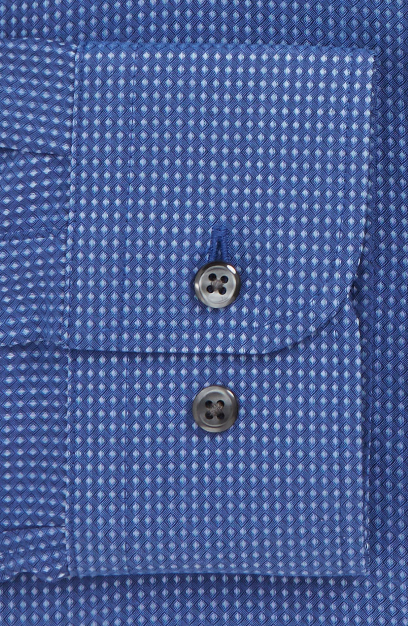 Trim Fit Non-Iron Dot Dress Shirt,                             Alternate thumbnail 6, color,                             420