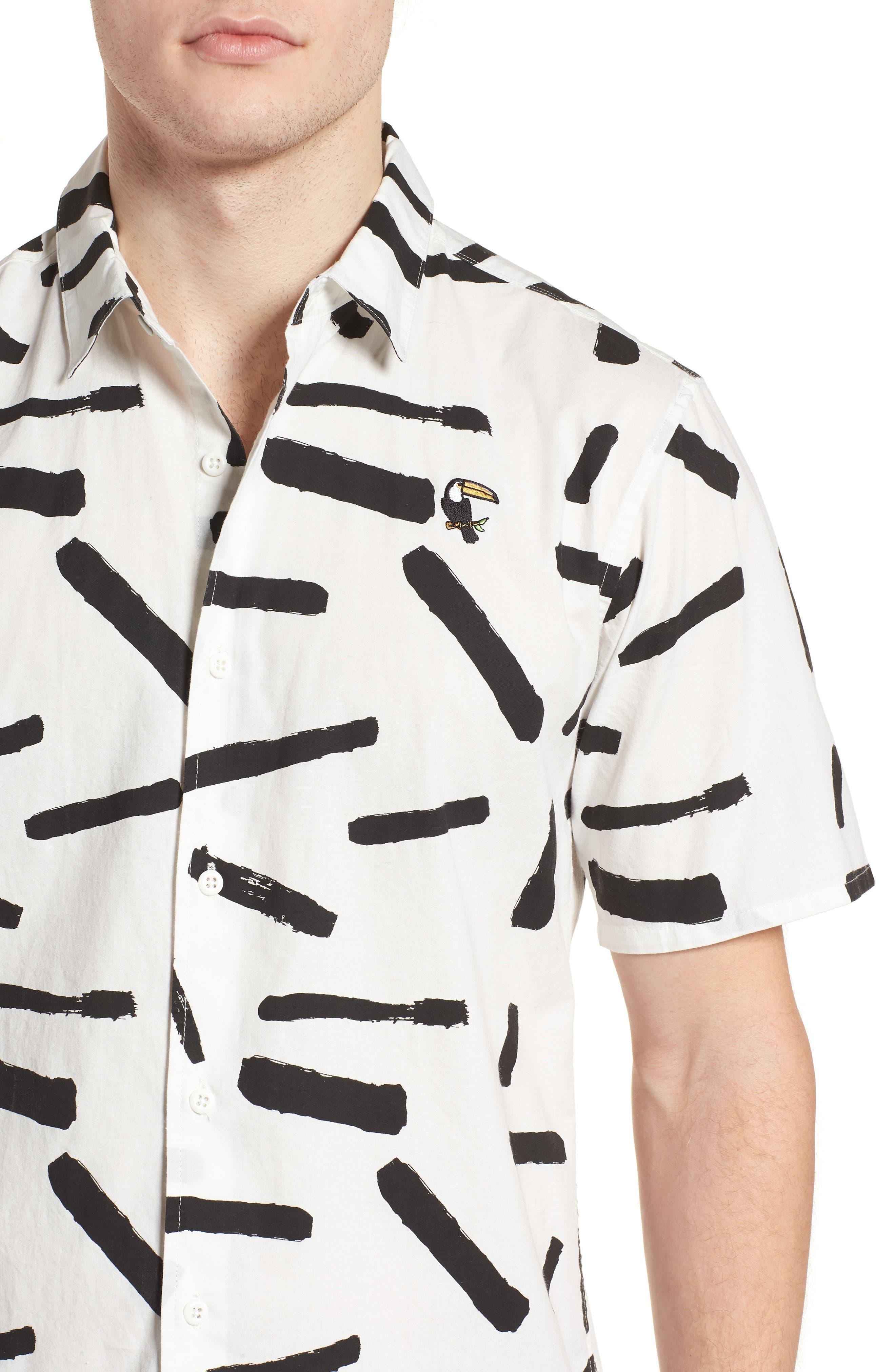 Print Short Sleeve Shirt,                             Alternate thumbnail 12, color,