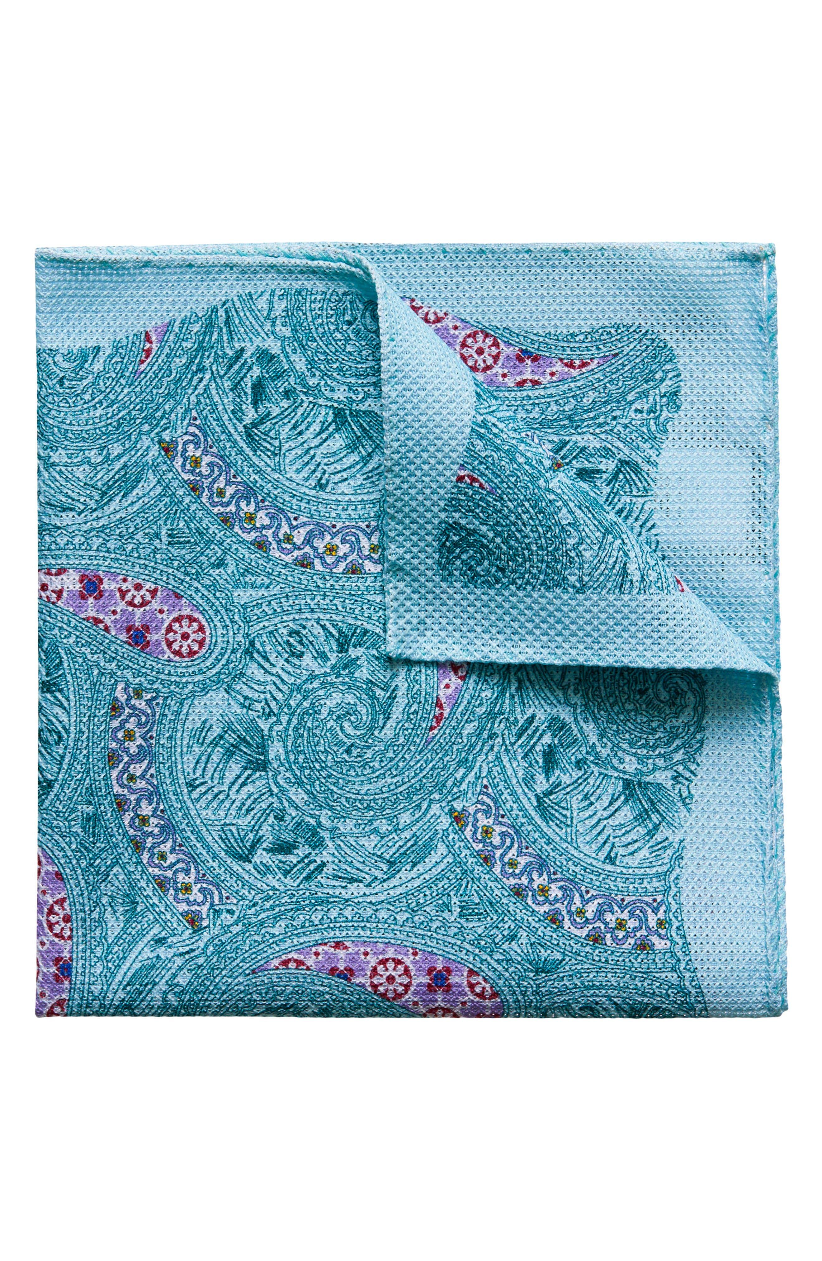Paisley Cotton Pocket Square,                         Main,                         color,