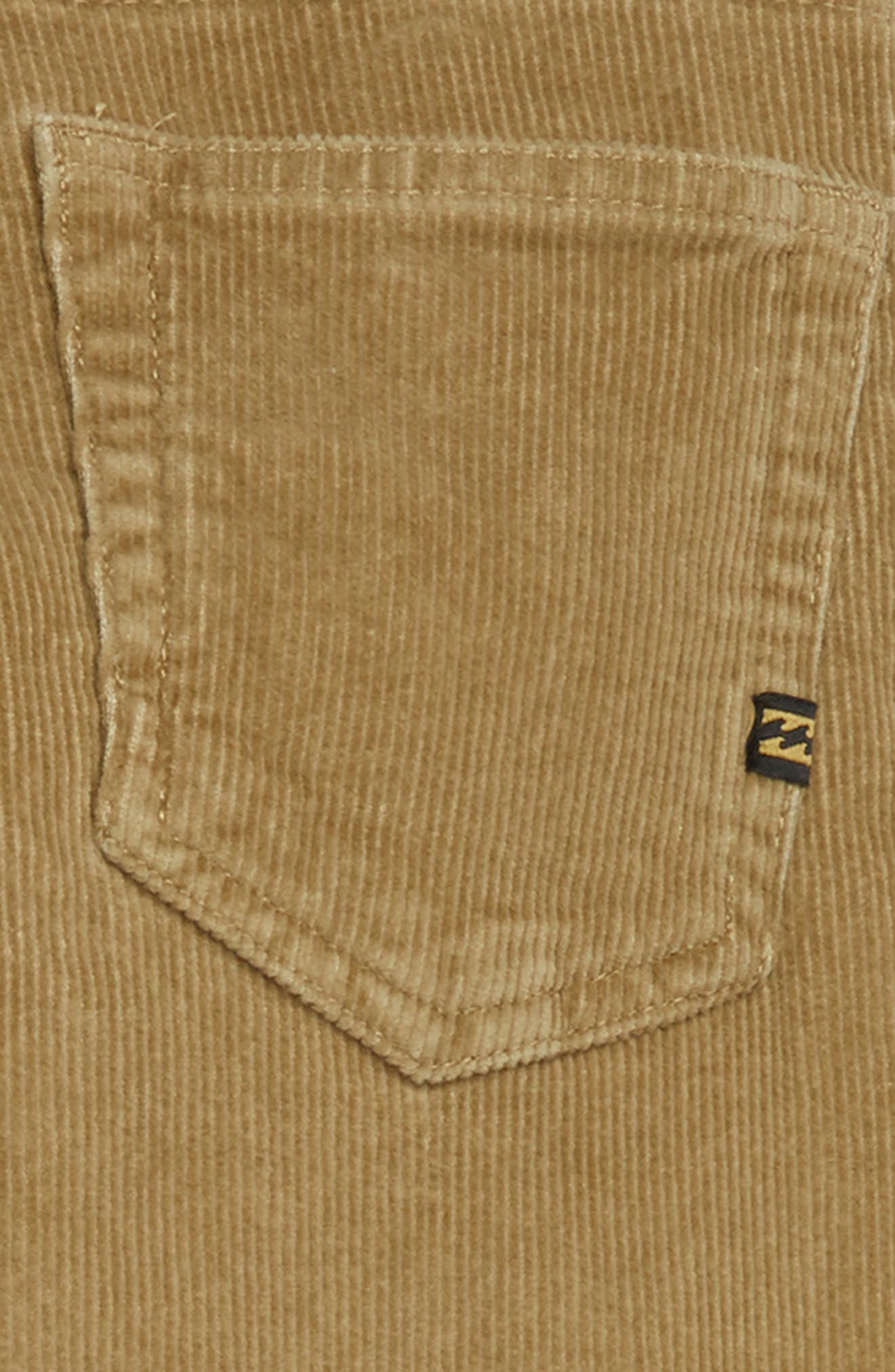 Outsider Corduroy Pants,                             Alternate thumbnail 3, color,                             GRAVEL