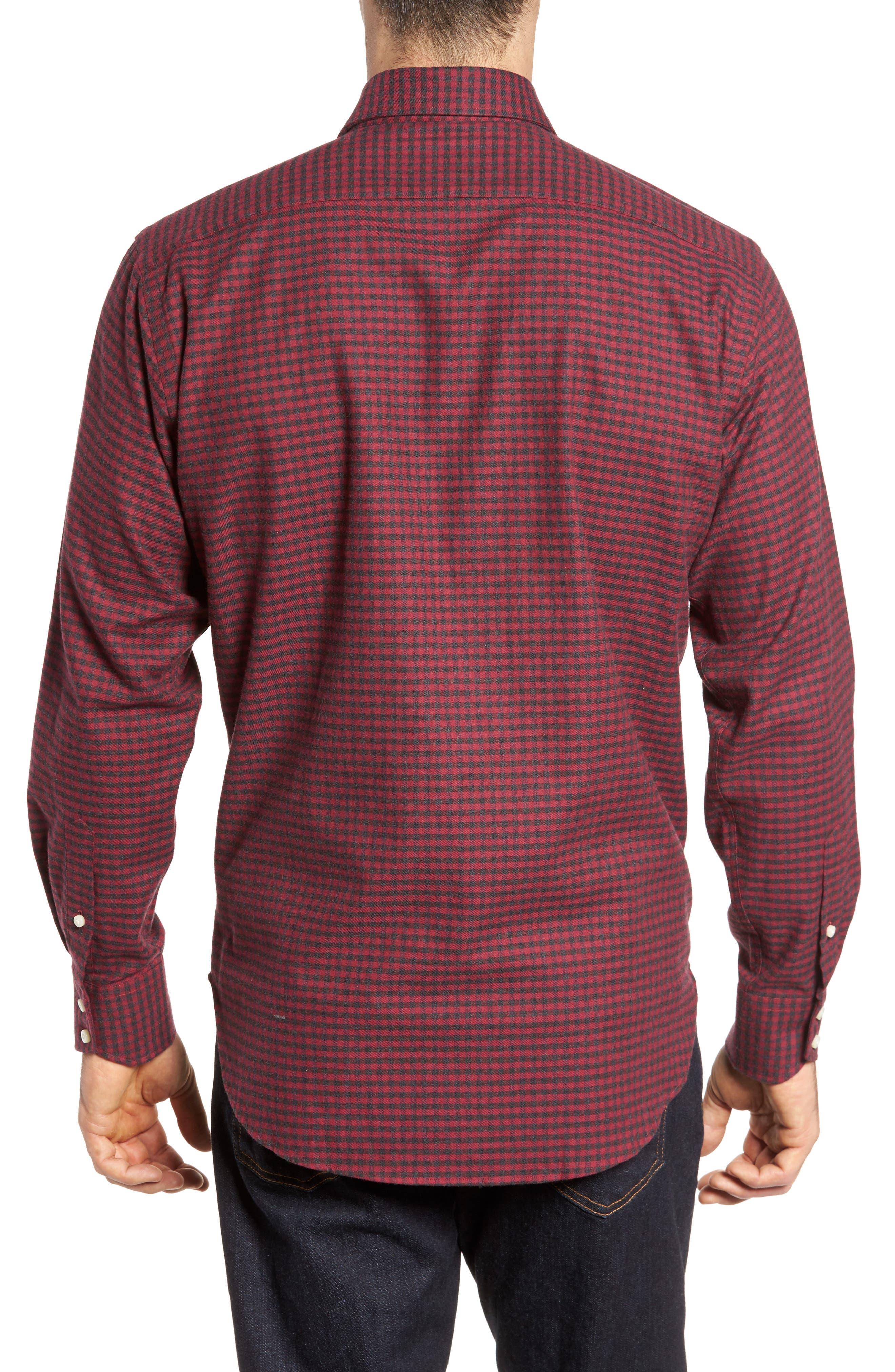 Regular Fit Check Sport Shirt,                             Alternate thumbnail 2, color,                             DARK PINK