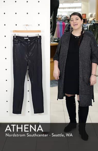 Good Legs Metallic Snake Print Skinny Jeans, sales video thumbnail