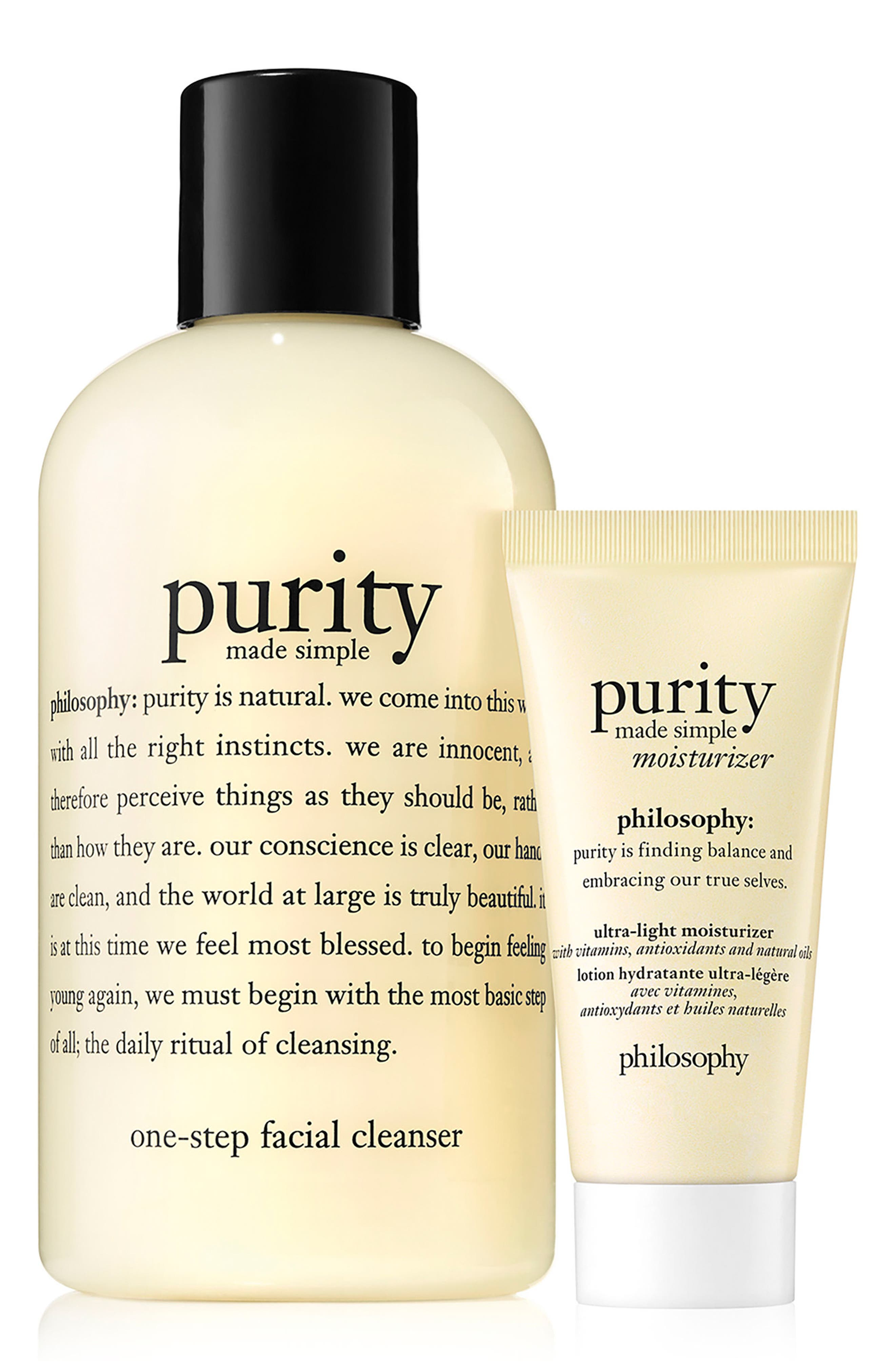 purity made simple cleanser & moisturizer duo,                         Main,                         color, 000