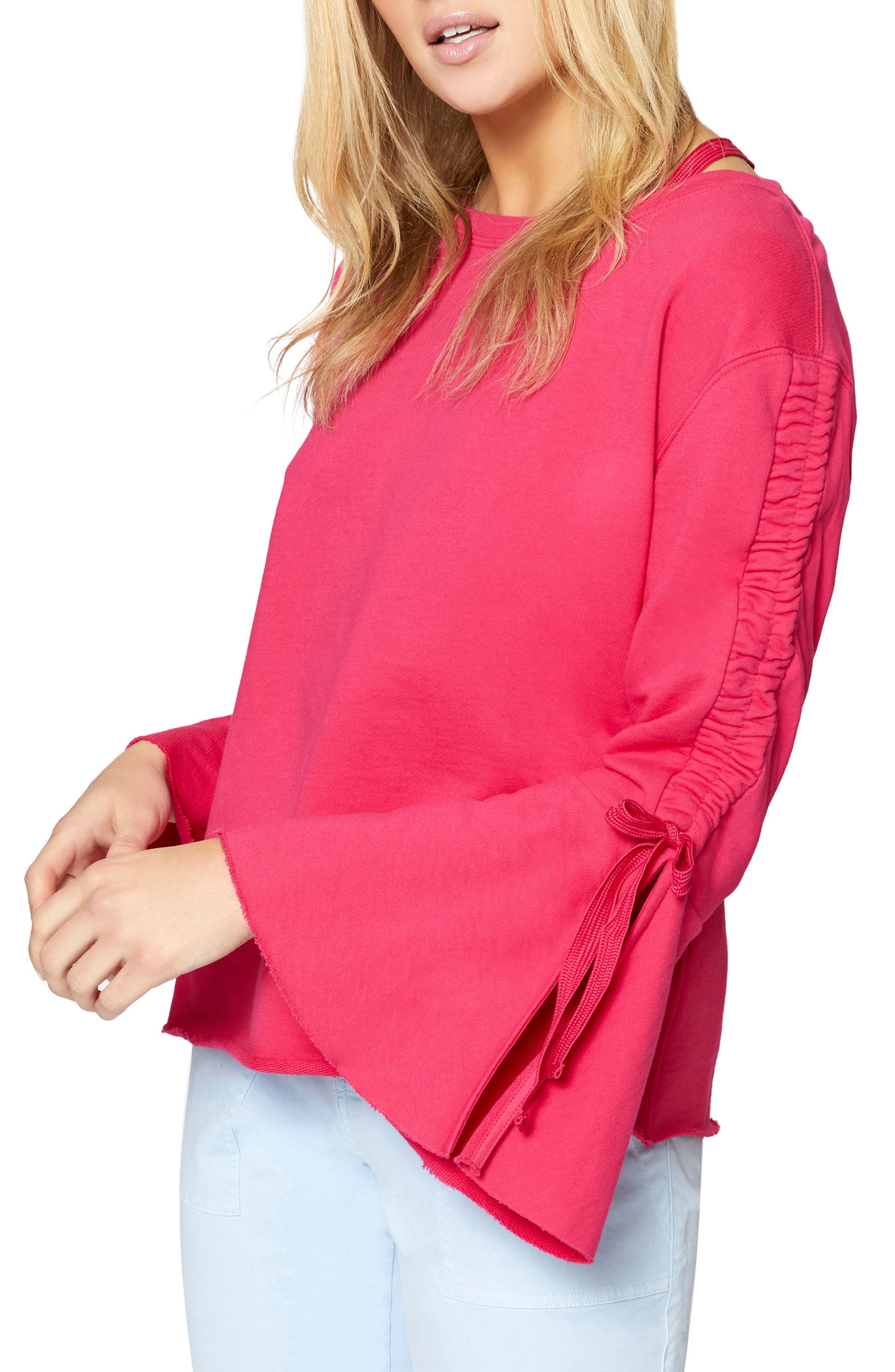 Upper West Bell Sleeve Sweatshirt,                             Main thumbnail 4, color,