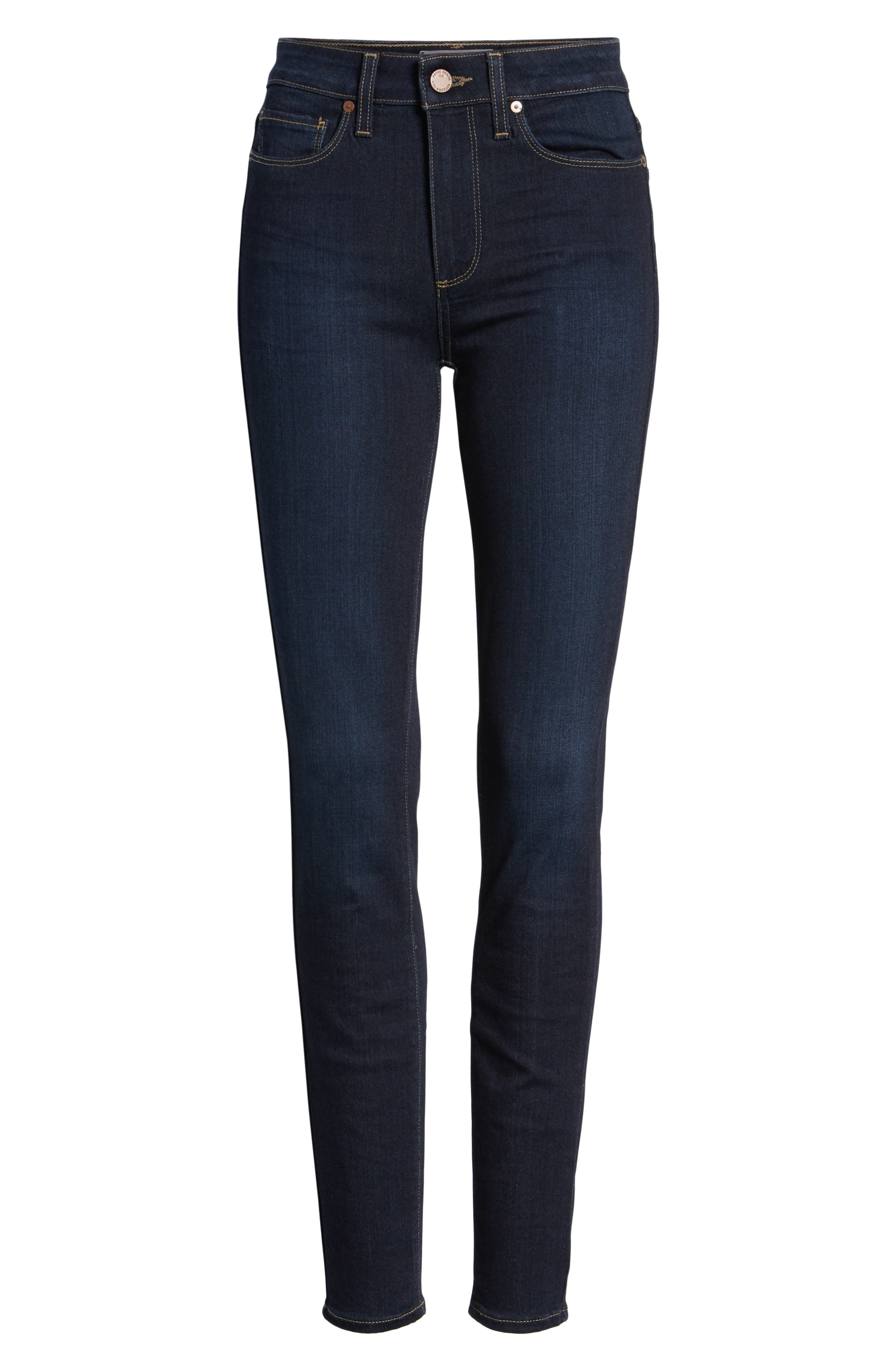 Transcend - Hoxton High Waist Ultra Skinny Jeans,                             Alternate thumbnail 7, color,                             SANIA