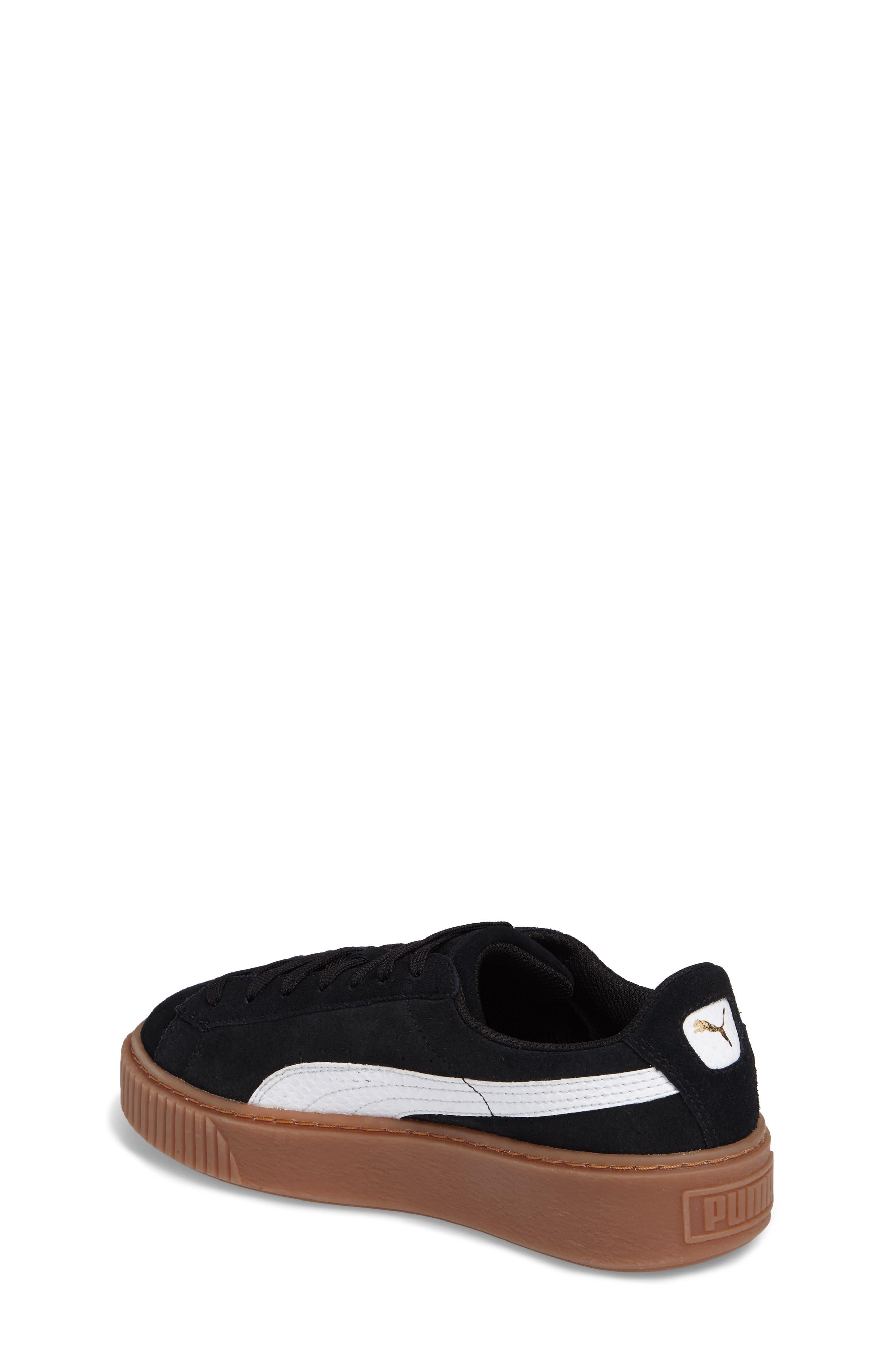 Suede Platform Jr Sneaker,                             Alternate thumbnail 2, color,                             001