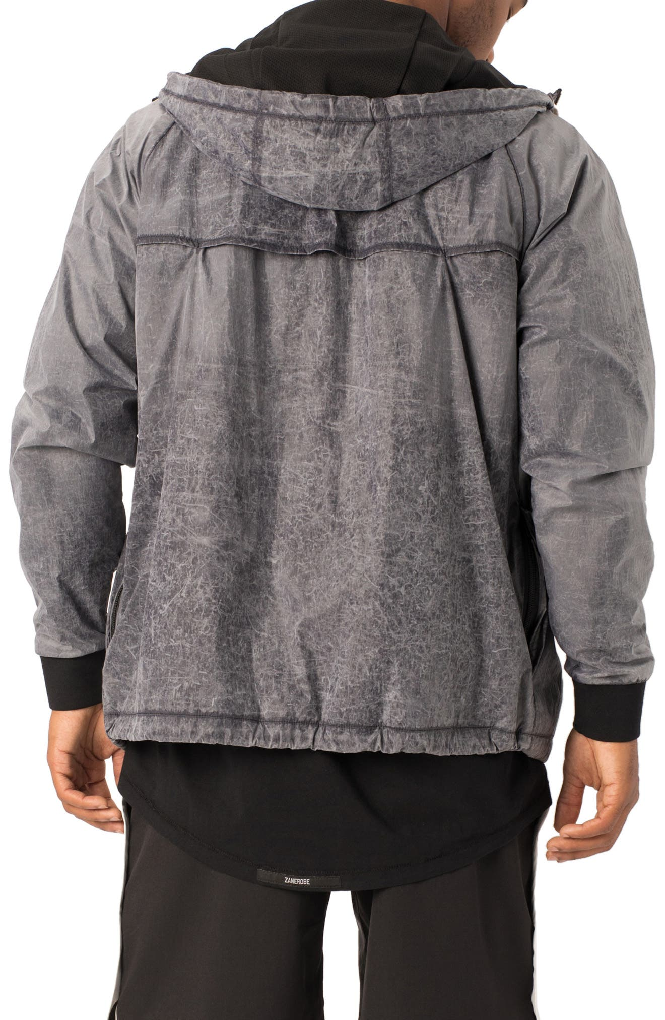 Storm Spray Hooded Jacket,                             Alternate thumbnail 2, color,                             SCRATCHED GREY