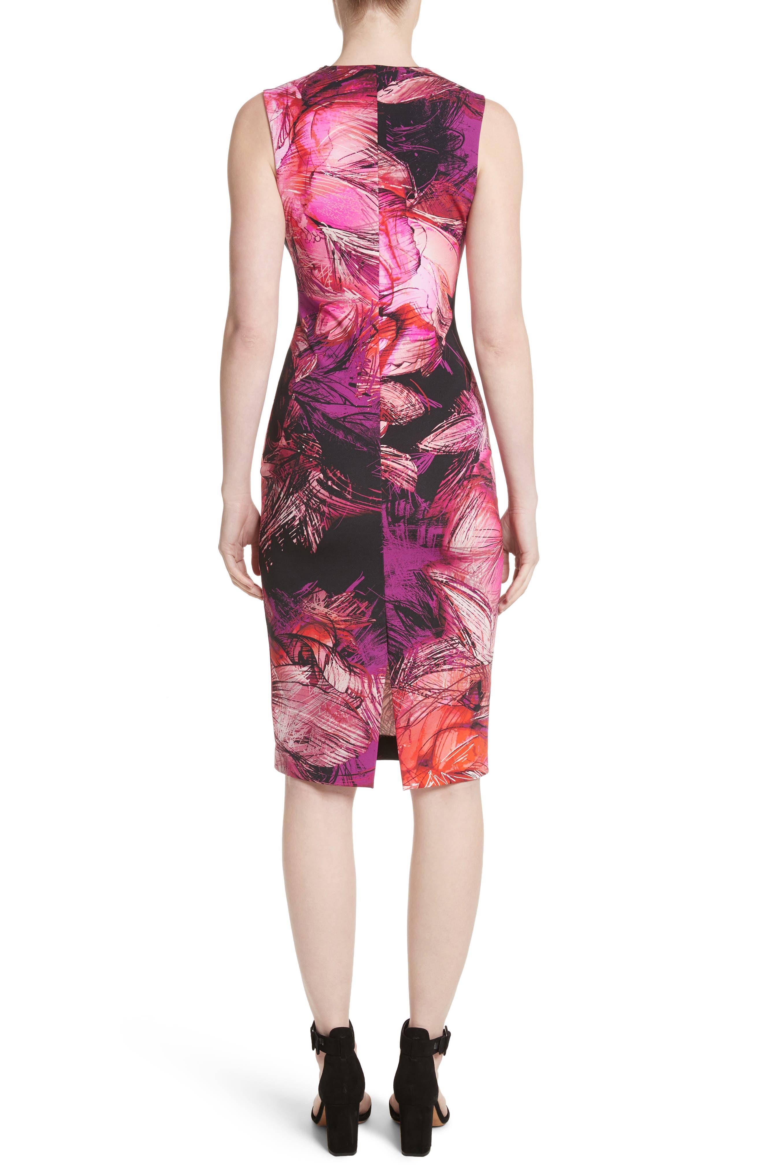 Print Sheath Dress,                             Alternate thumbnail 2, color,                             650