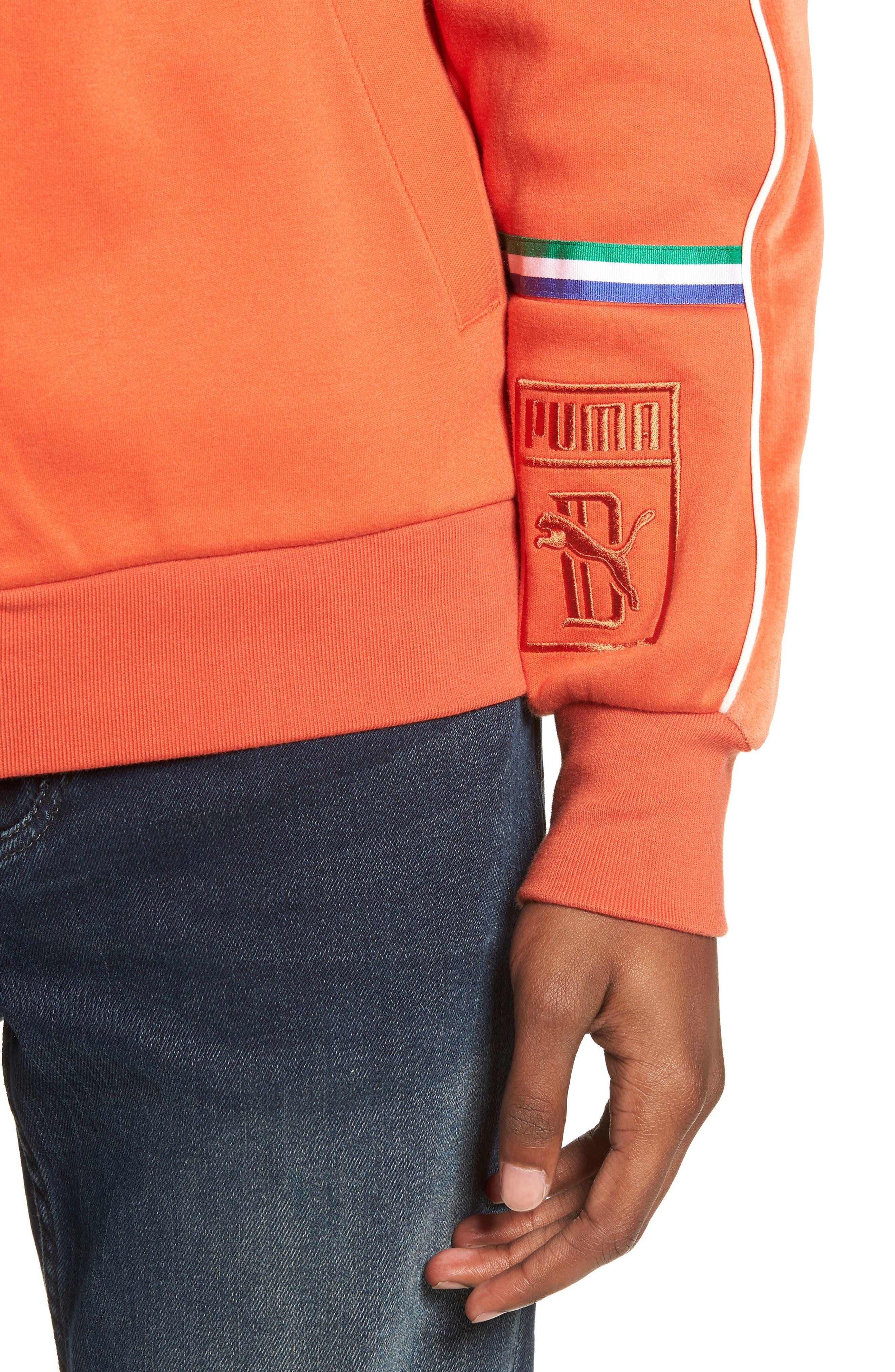 X Big Sean T7 Track Jacket,                             Alternate thumbnail 4, color,                             BURNT OCHRE