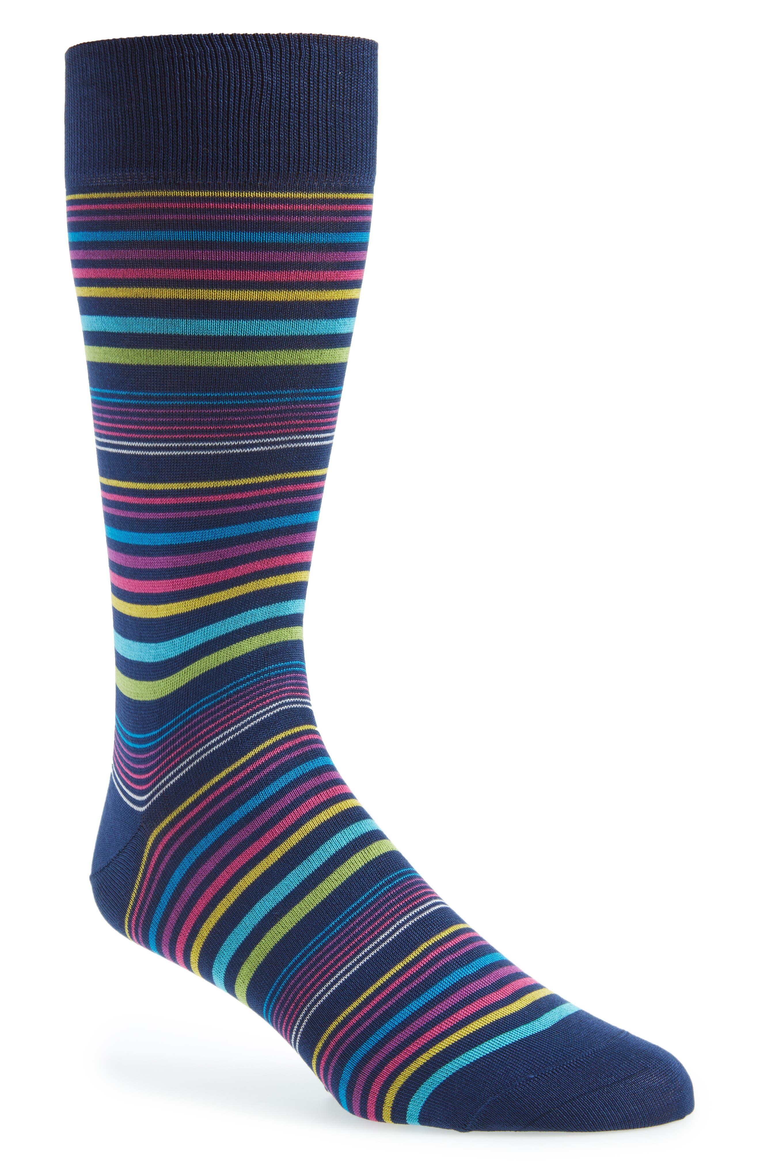 Stripe Socks,                         Main,                         color, PARADISE