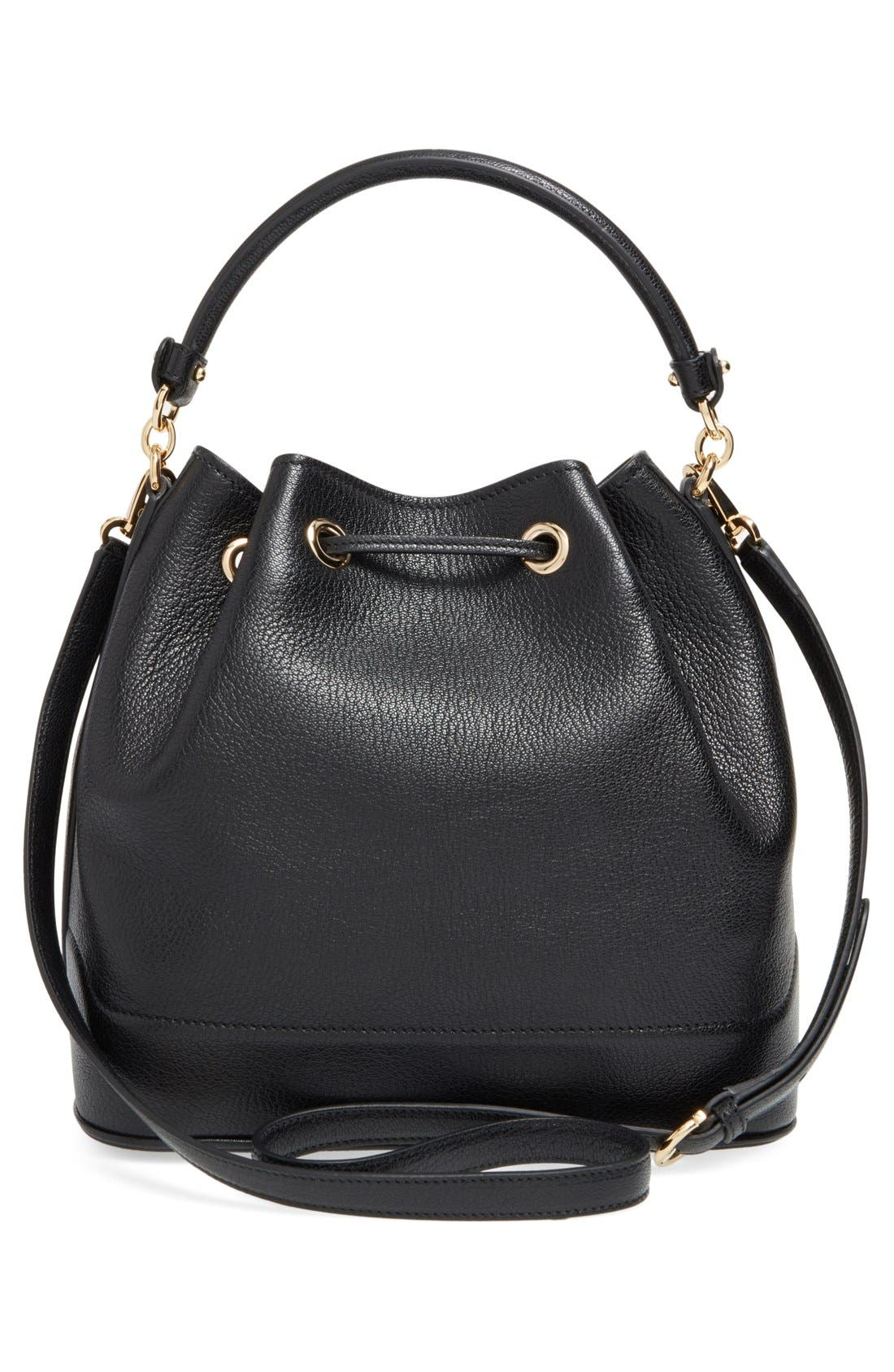 'Mille' Bucket Bag,                             Alternate thumbnail 3, color,                             001