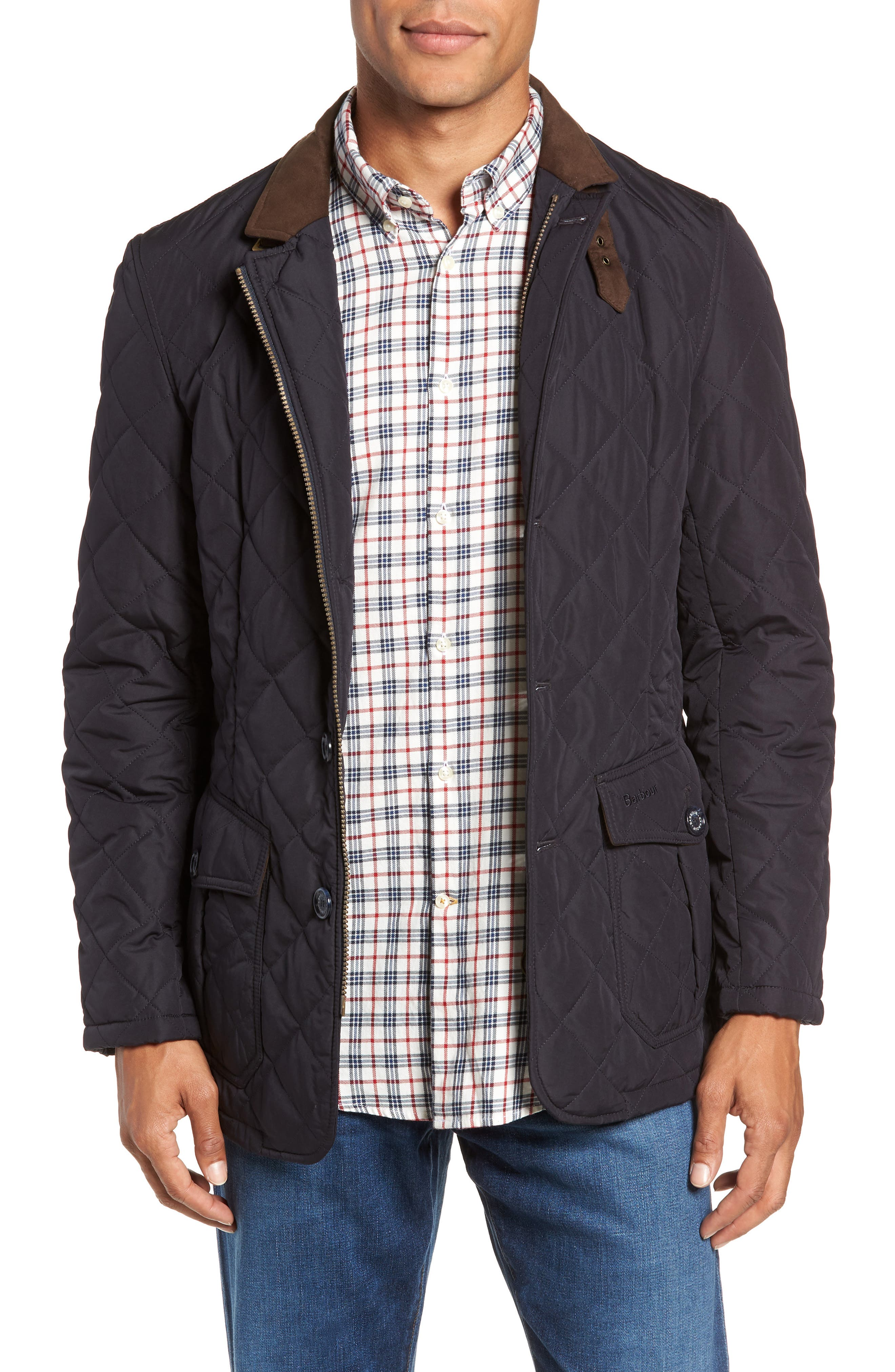Barbour Lutz Quilted Jacket, Blue