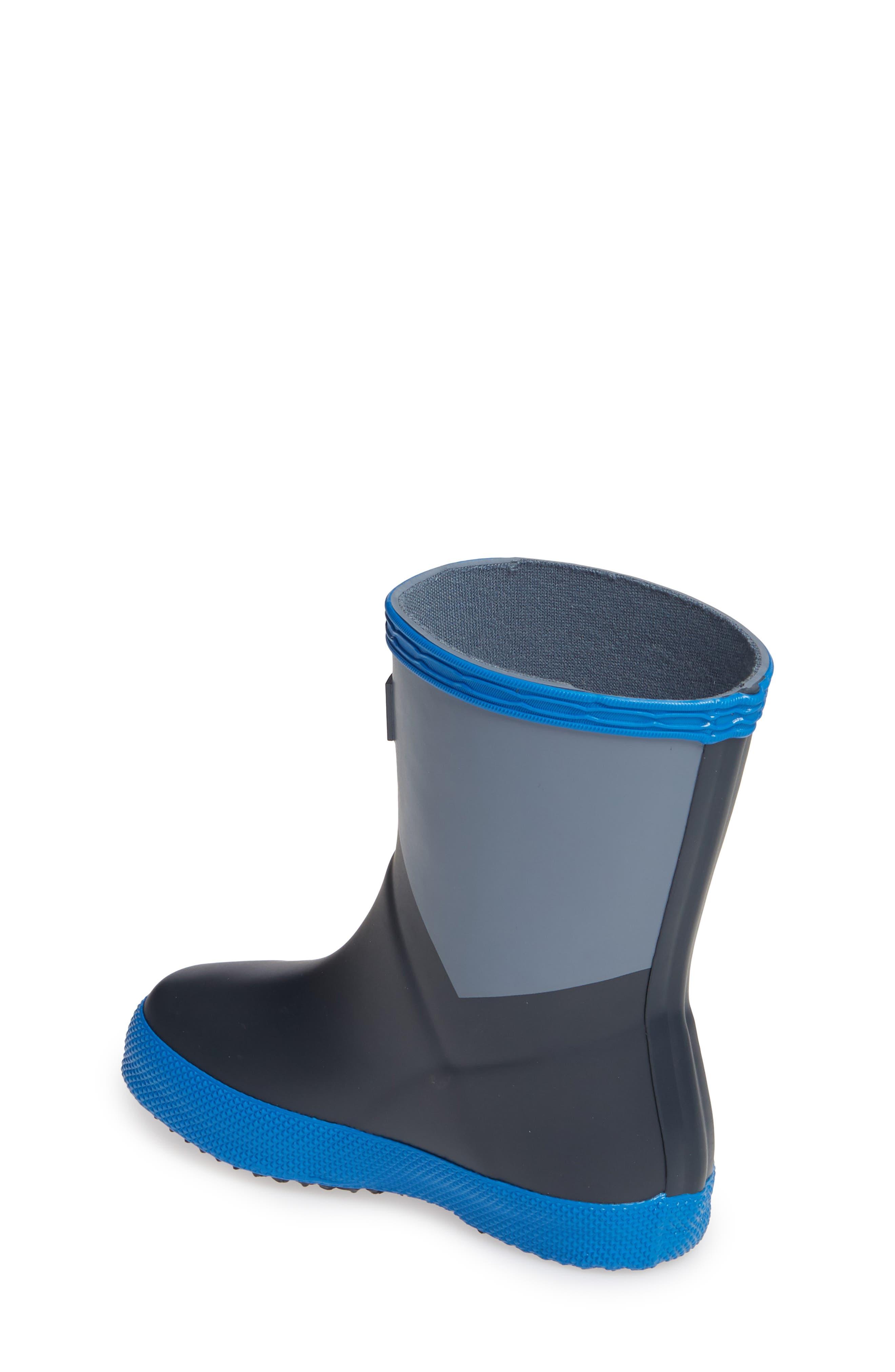HUNTER,                             First Classic Waterproof Rain Boot,                             Alternate thumbnail 2, color,                             GULL GREY/ BUCKET BLUE/ NAVY