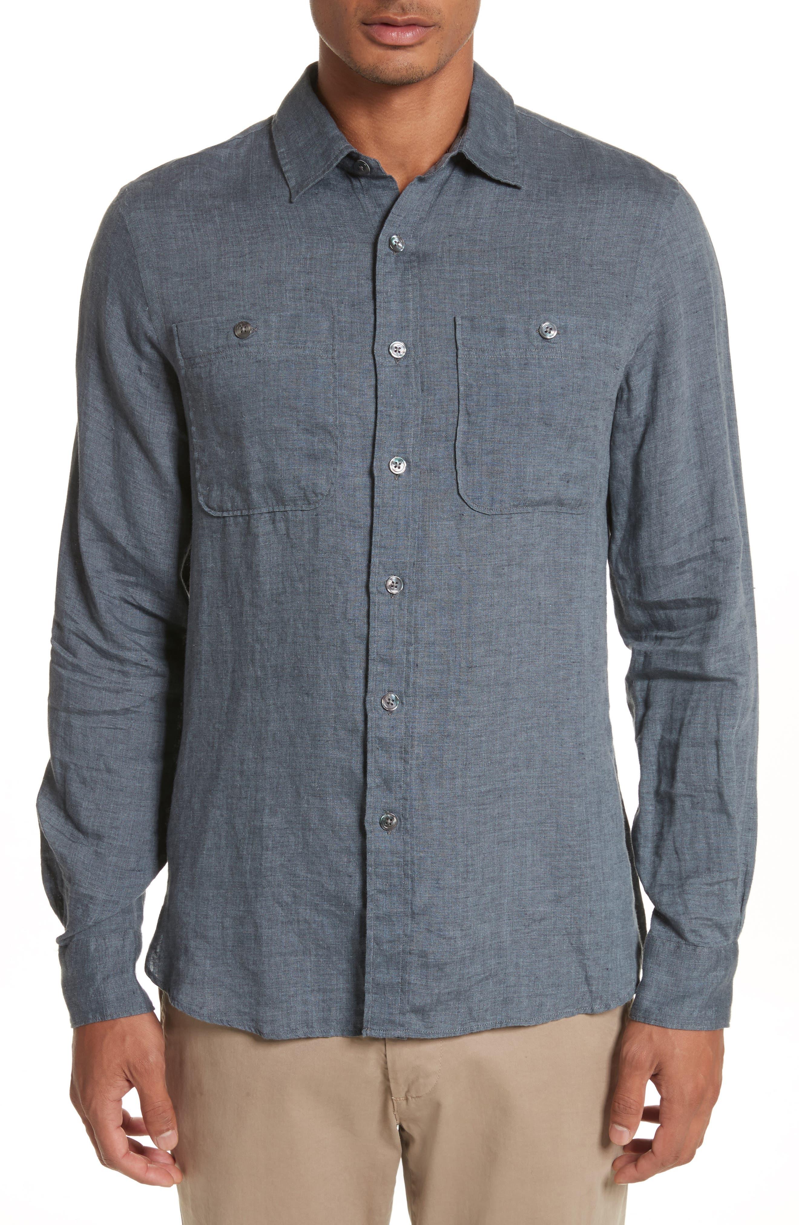 Linen Shirt,                             Main thumbnail 2, color,