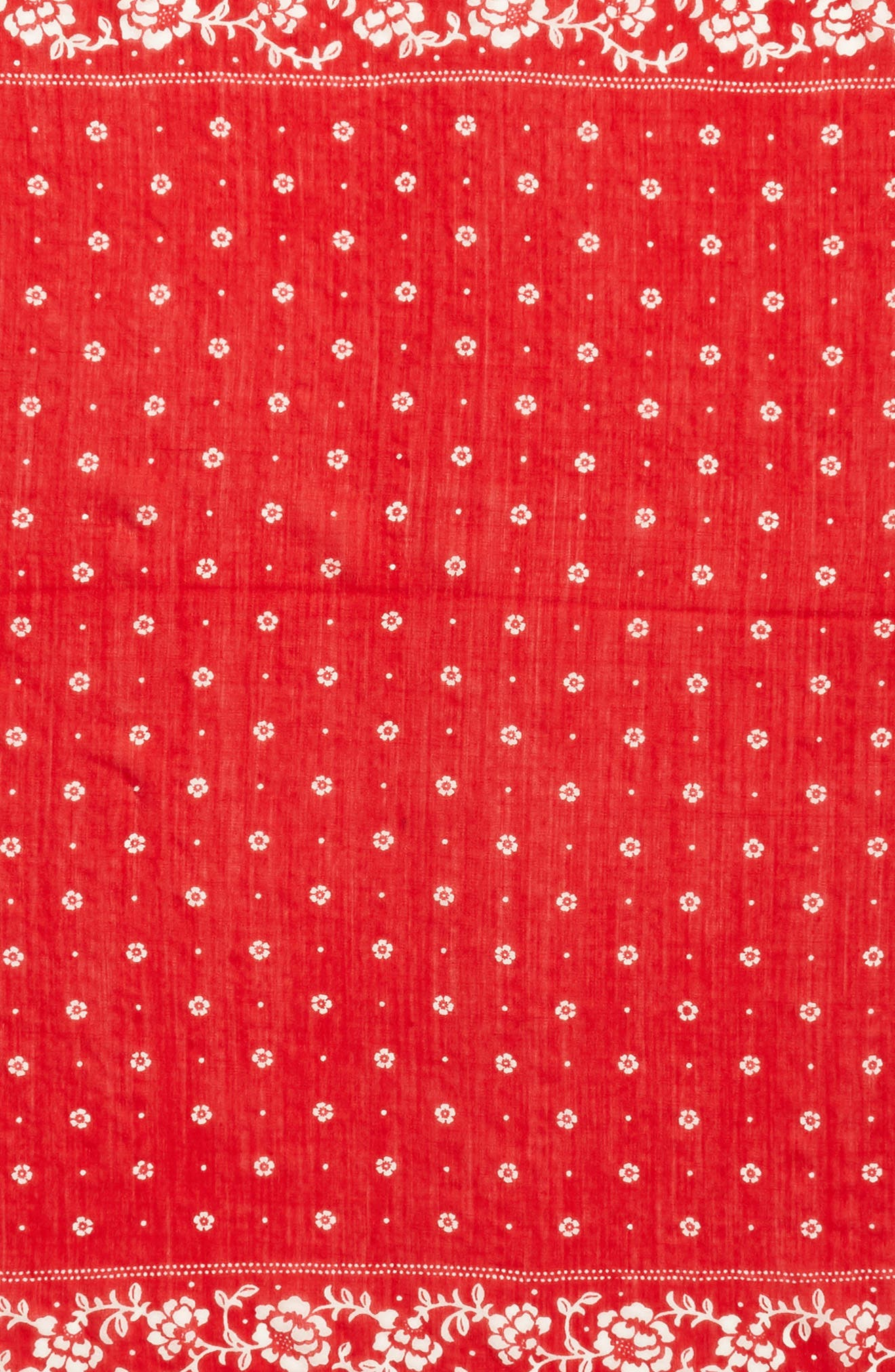 wool bandana,                             Alternate thumbnail 4, color,                             LINGONBERRY
