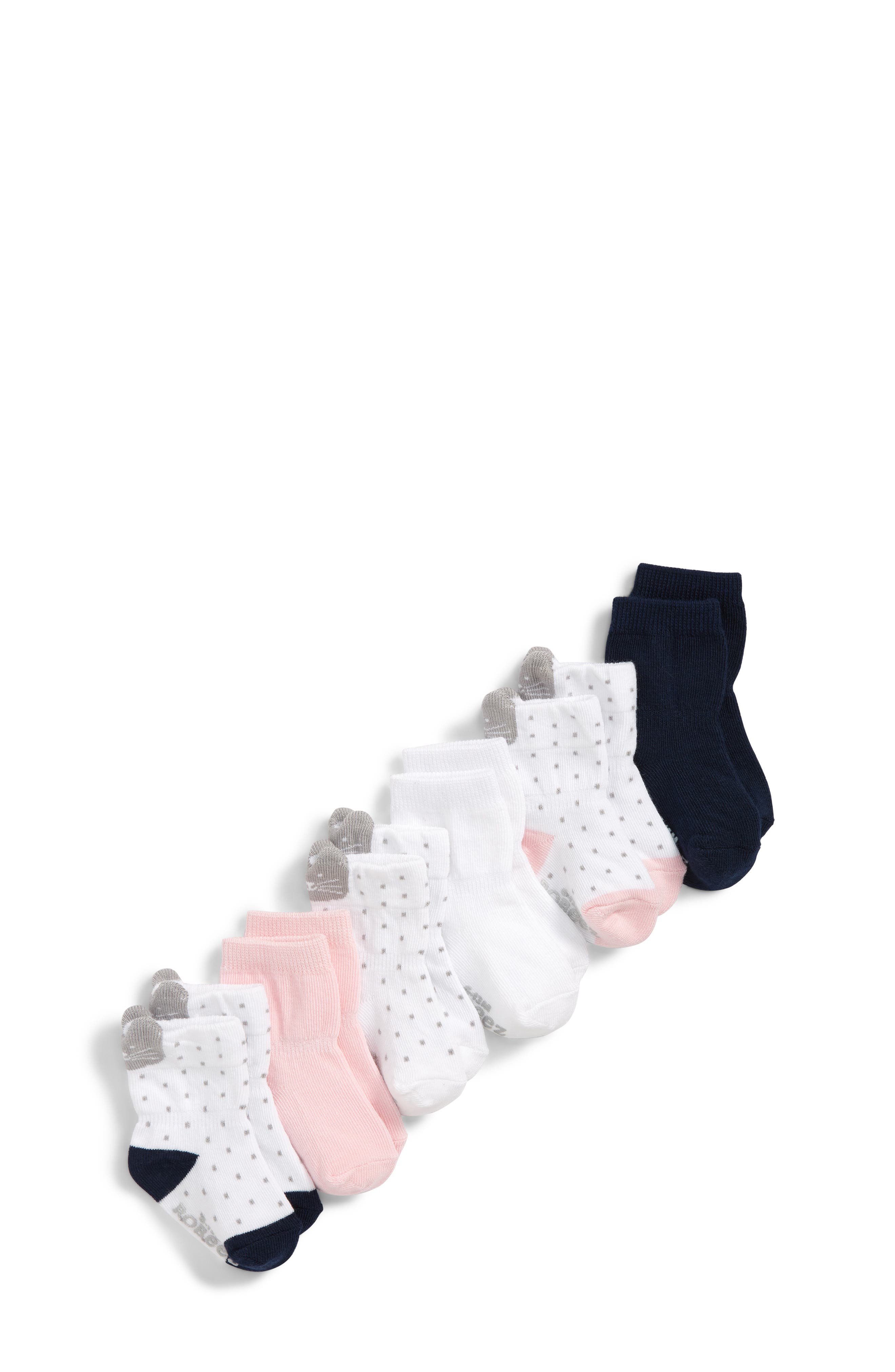 ROBEEZ<SUP>®</SUP>,                             Sweet Kitty 6-Pack Ankle Socks,                             Main thumbnail 1, color,                             100