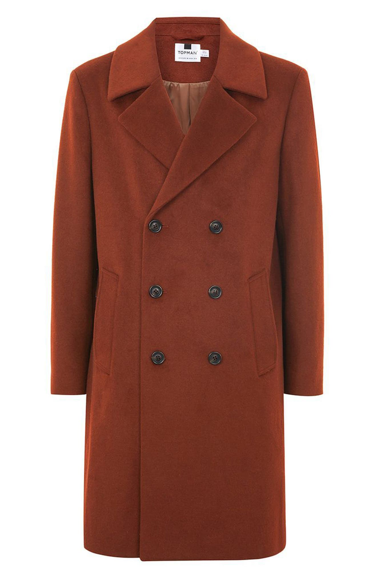 Oversize Double Breated Coat,                             Alternate thumbnail 5, color,