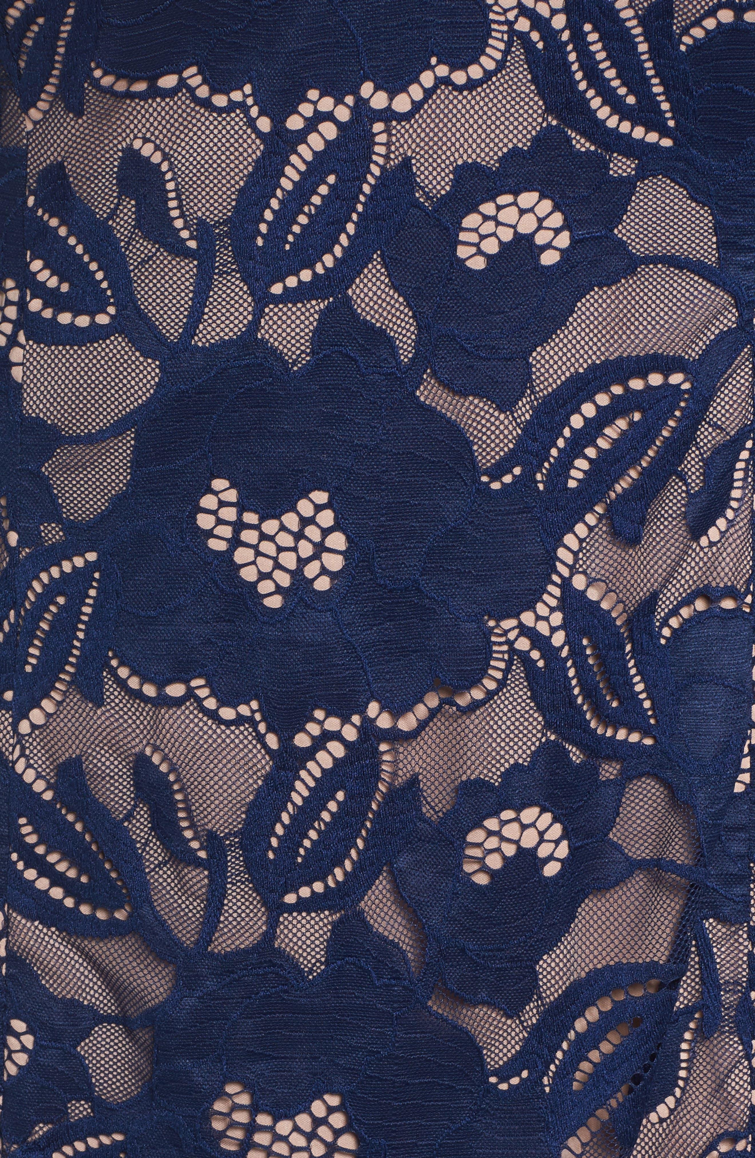 Ruffle Sleeve Lace Dress,                             Alternate thumbnail 5, color,                             412