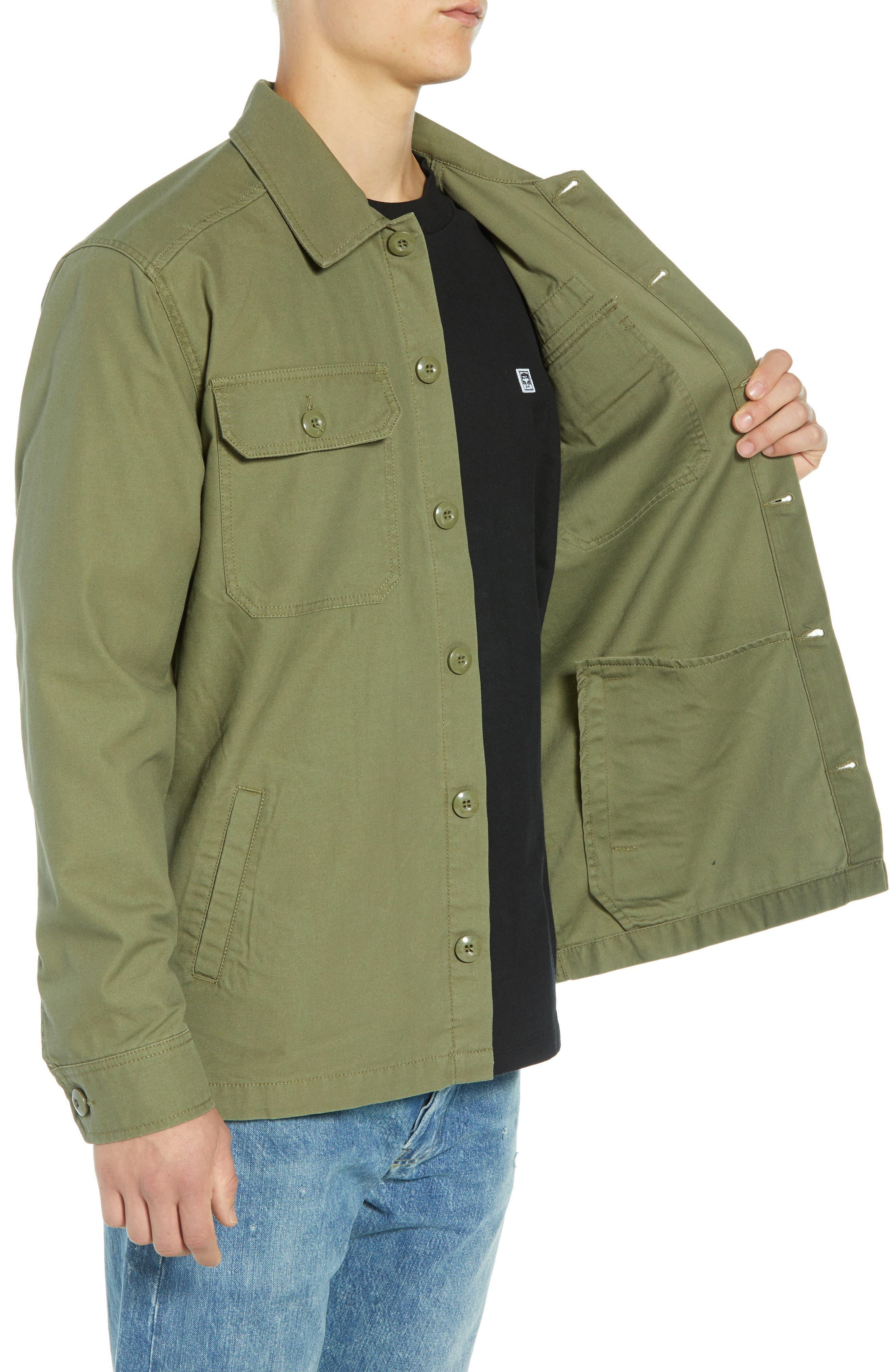 Station Shirt Jacket,                             Alternate thumbnail 3, color,                             BURNT OLIVE