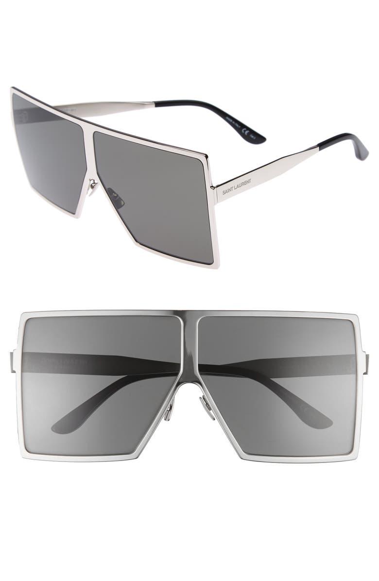 fc117610f5c Saint Laurent Betty 68mm Shield Sunglasses