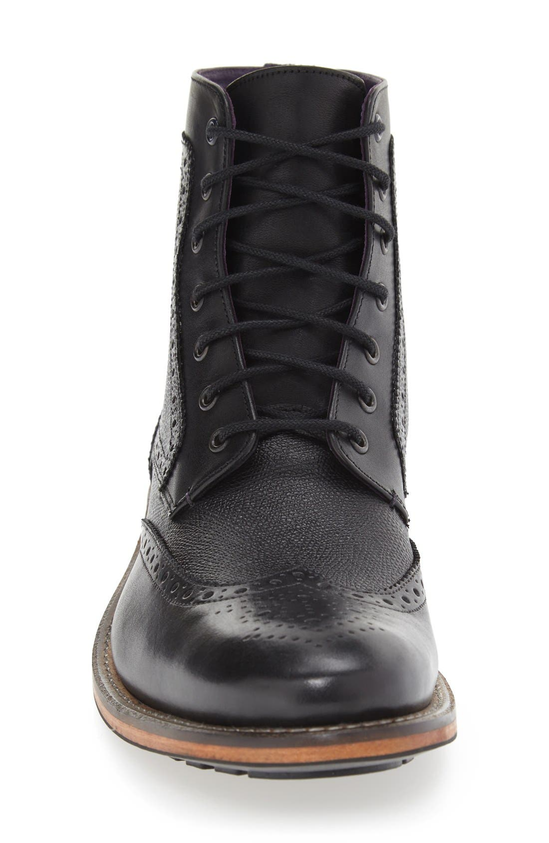 'Sealls 3' Wingtip Boot,                             Alternate thumbnail 3, color,                             001