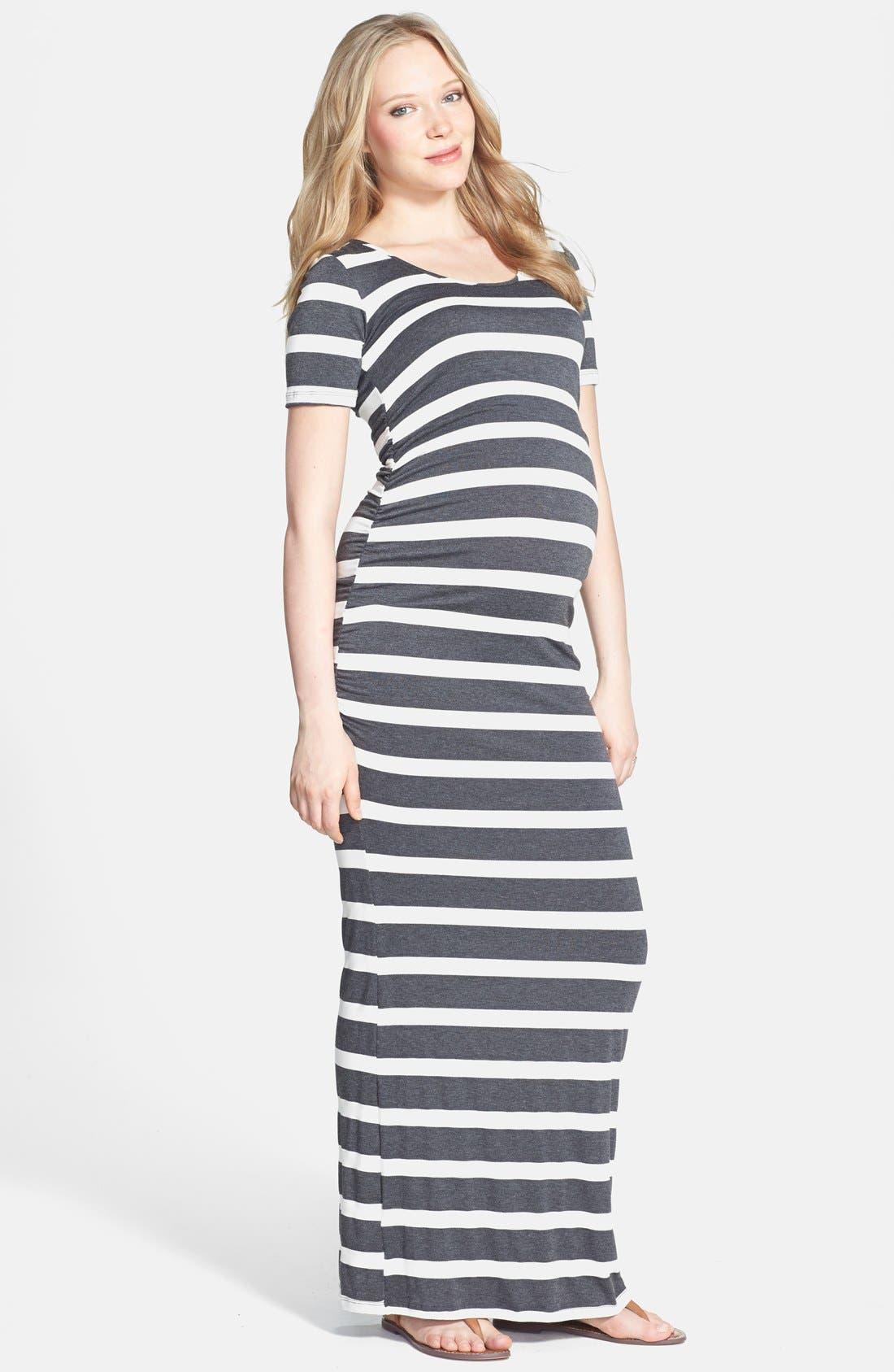 'Heidi' Maxi Maternity Dress,                             Main thumbnail 2, color,