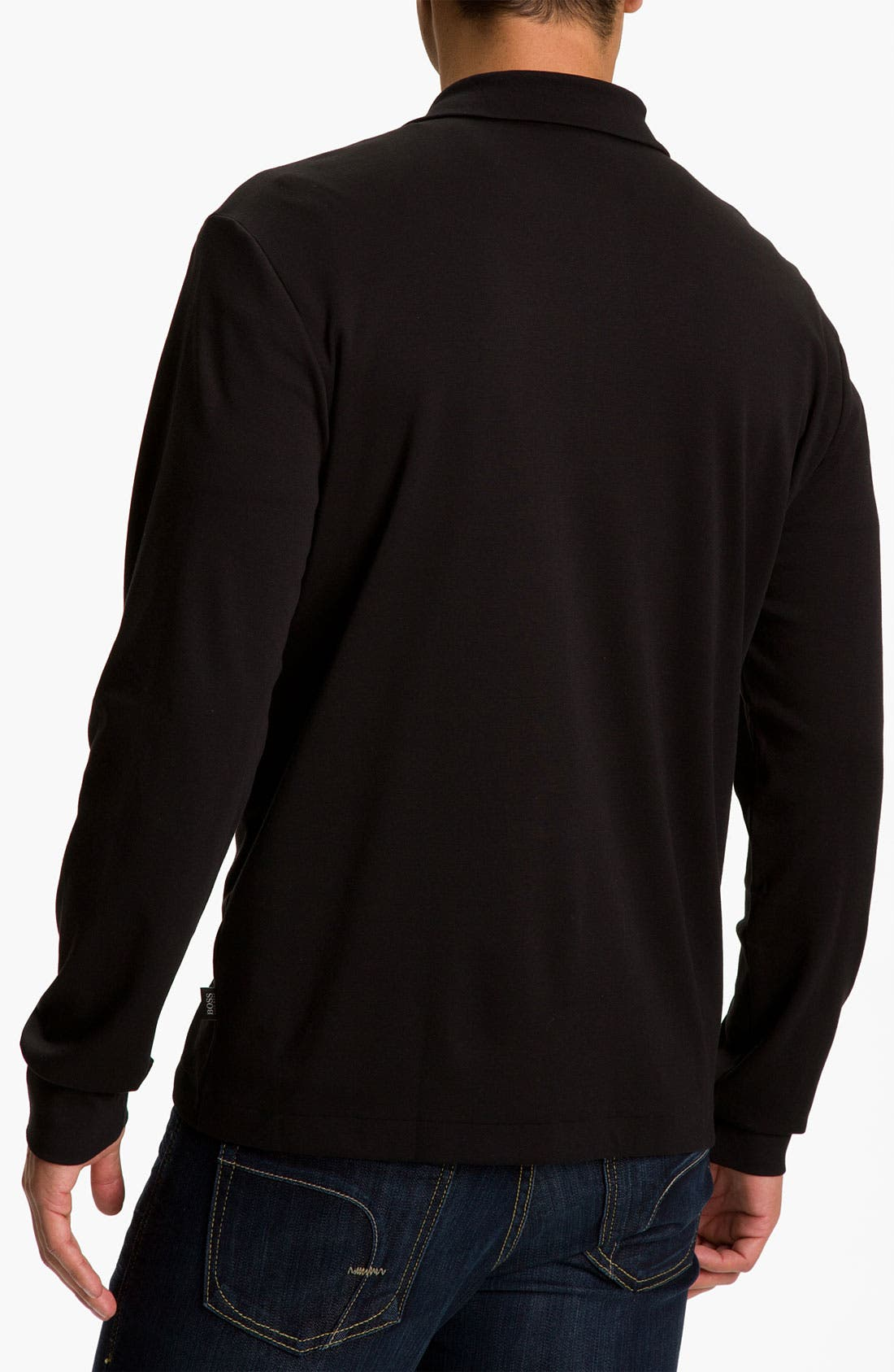 Black 'Padua' Quarter Zip Pullover,                             Alternate thumbnail 2, color,                             001