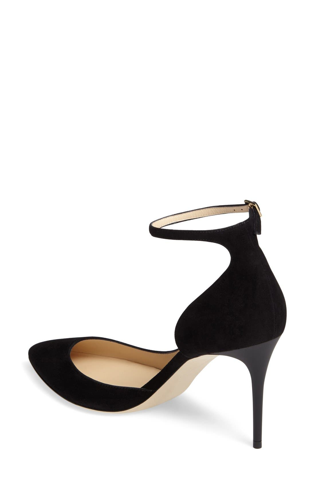 'Lucy' Half d'Orsay Pointy Toe Pump,                             Alternate thumbnail 19, color,