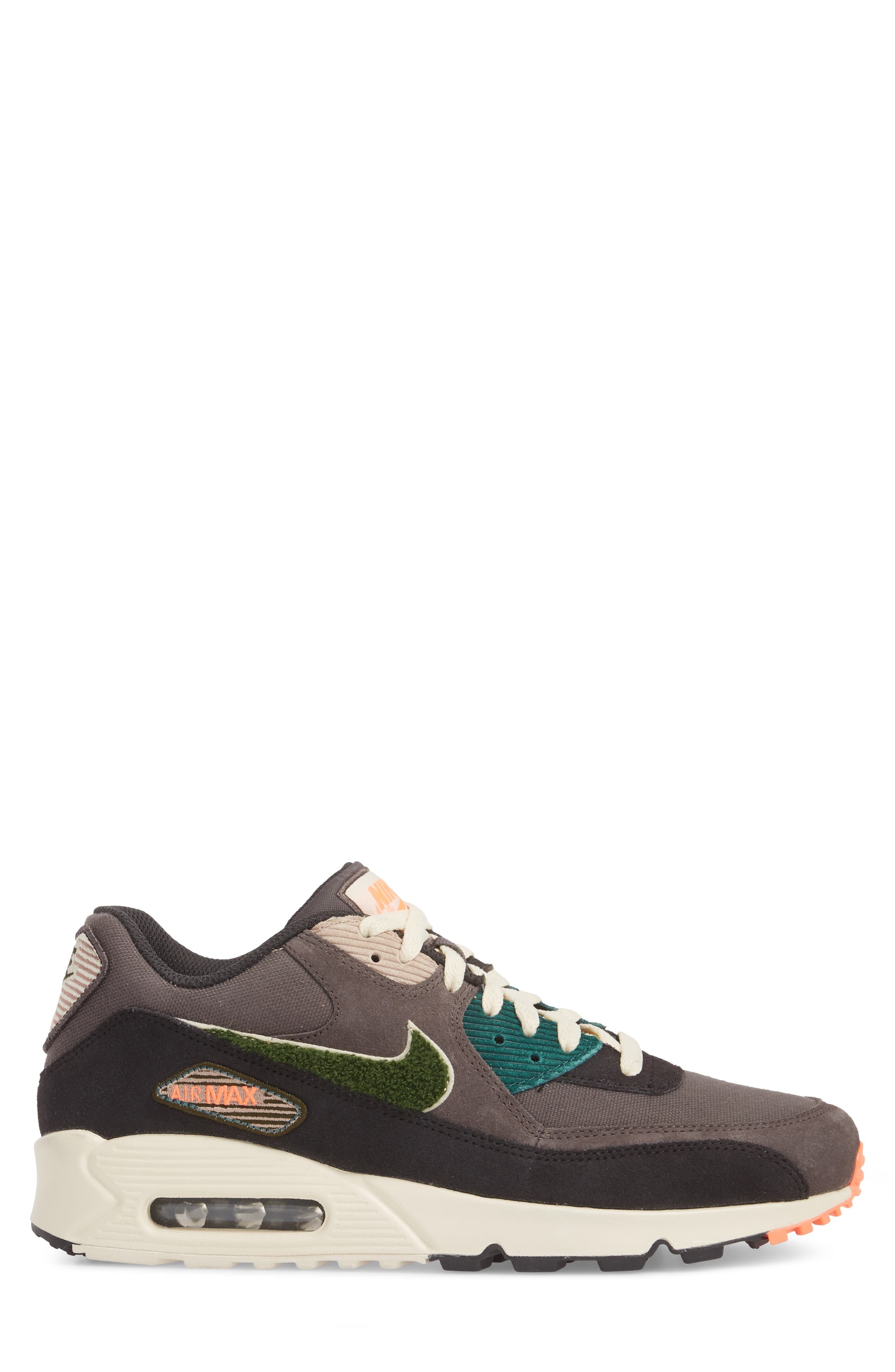 Air Max 90 Premium Sneaker,                             Alternate thumbnail 7, color,