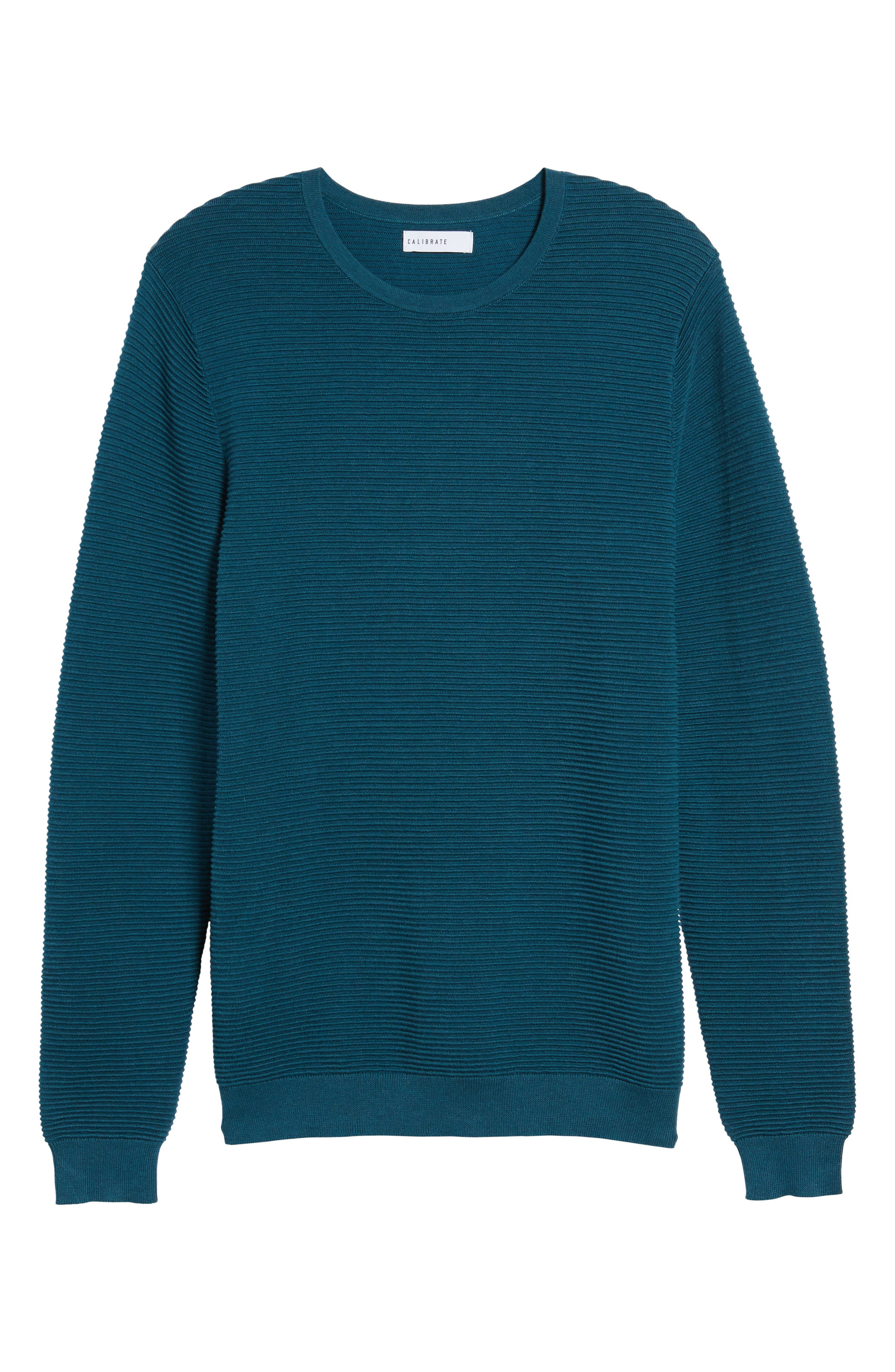 Ottoman Ribbed Crewneck Sweater,                             Alternate thumbnail 17, color,
