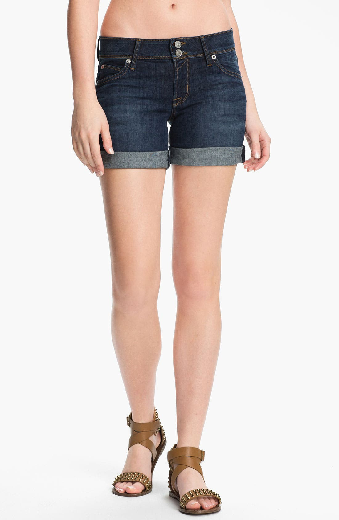 'Croxley' Cuff Denim Shorts,                         Main,                         color, 404
