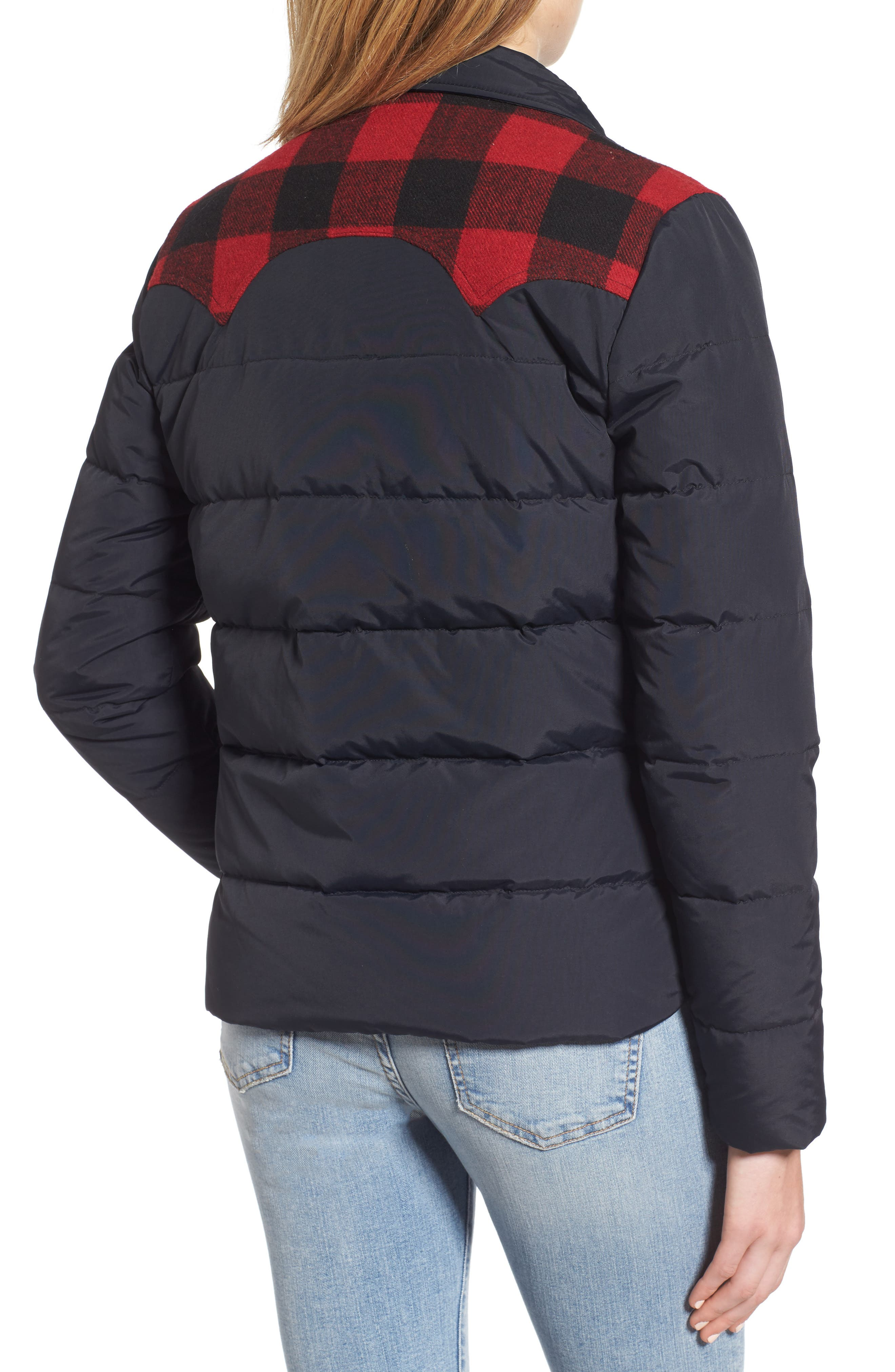 Down & Feather Fill Jacket,                             Alternate thumbnail 2, color,                             001