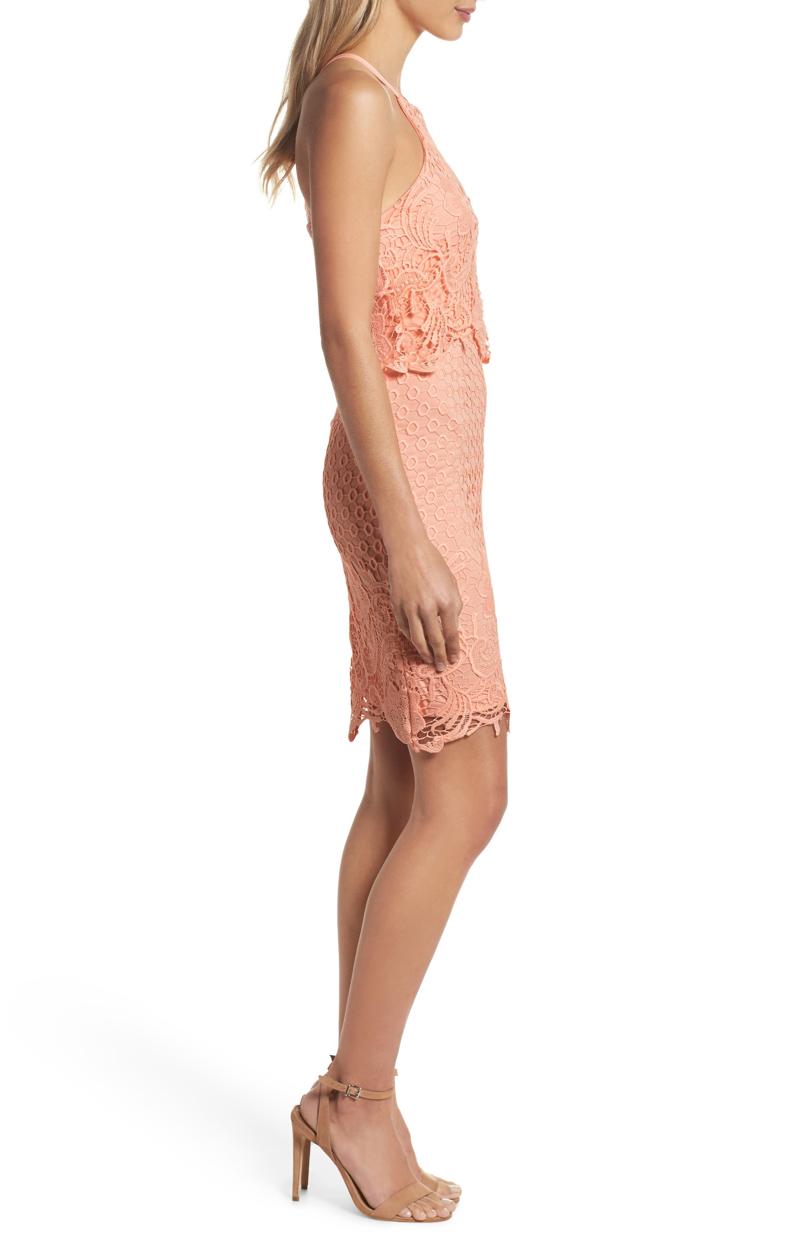 Bryn Lace Halter Dress,                             Alternate thumbnail 7, color,