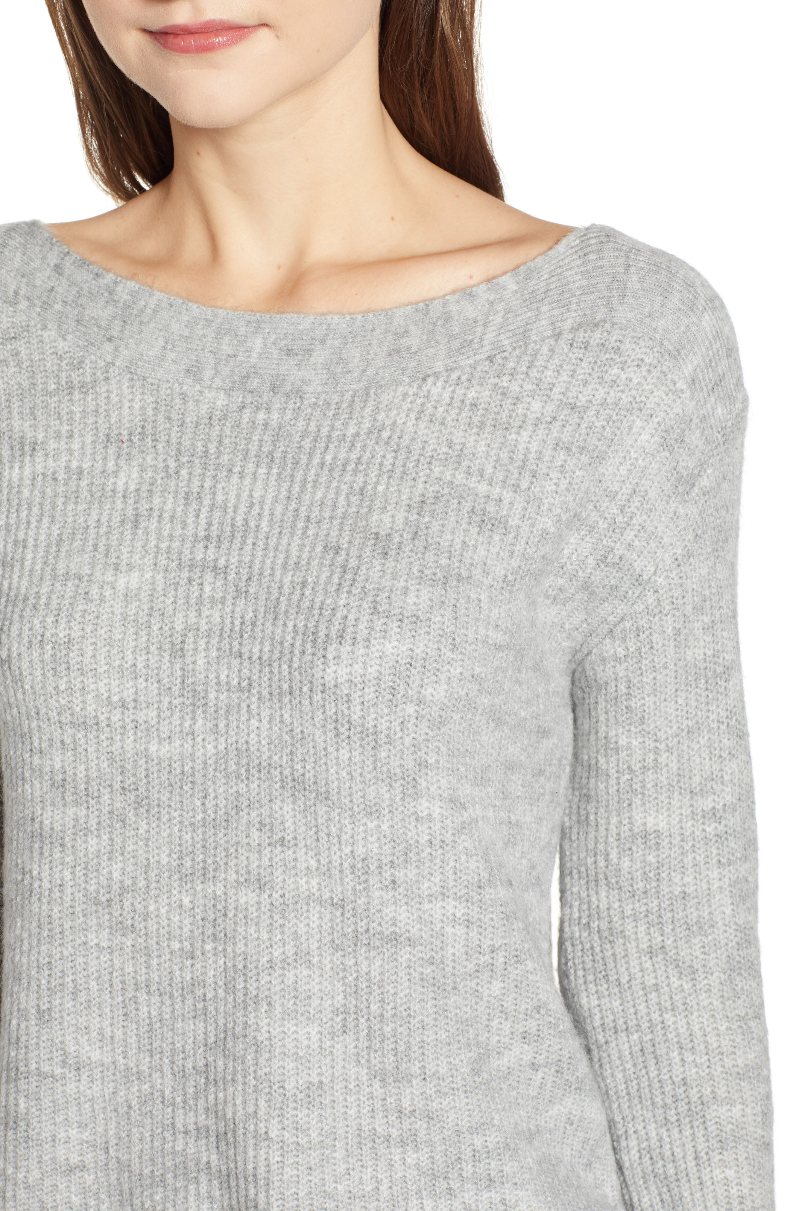 Cozy Femme Pullover Sweater,                             Alternate thumbnail 4, color,                             GREY PEARL HEATHER