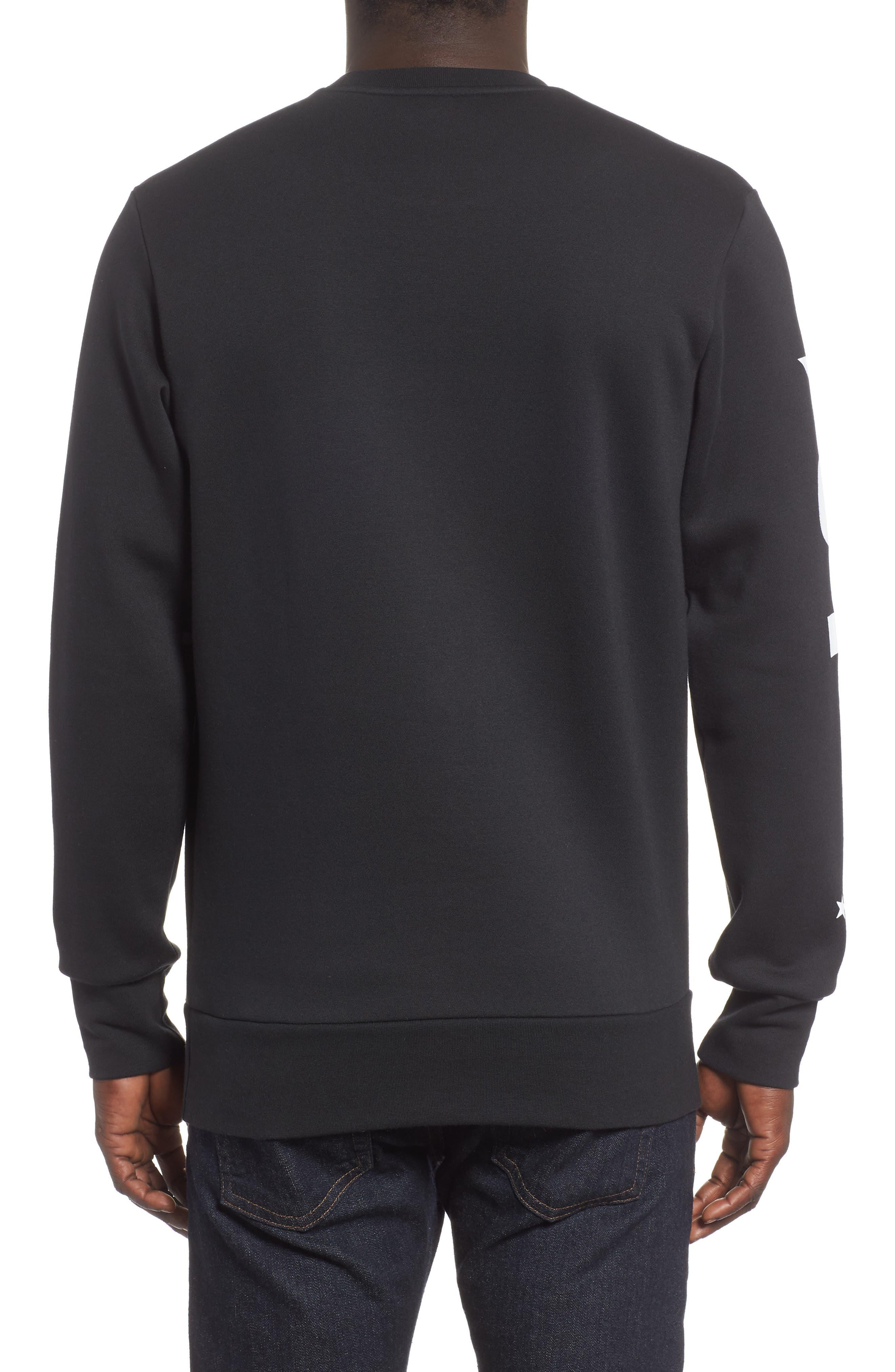 International Regular Fit Sweatshirt,                             Alternate thumbnail 2, color,                             BLACK