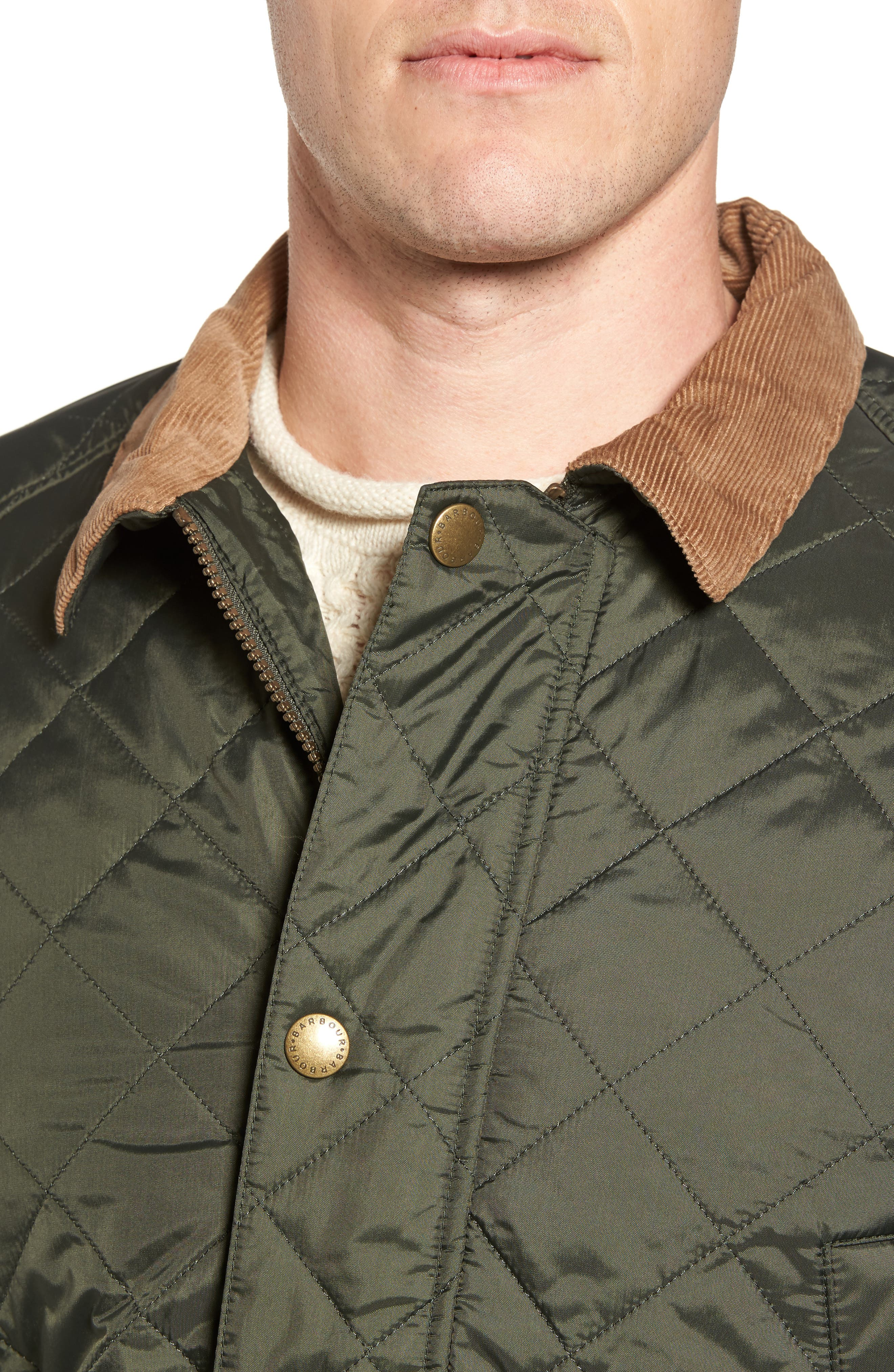 'Canterdale' Slim Fit Water-Resistant Diamond Quilted Jacket,                             Alternate thumbnail 5, color,                             305