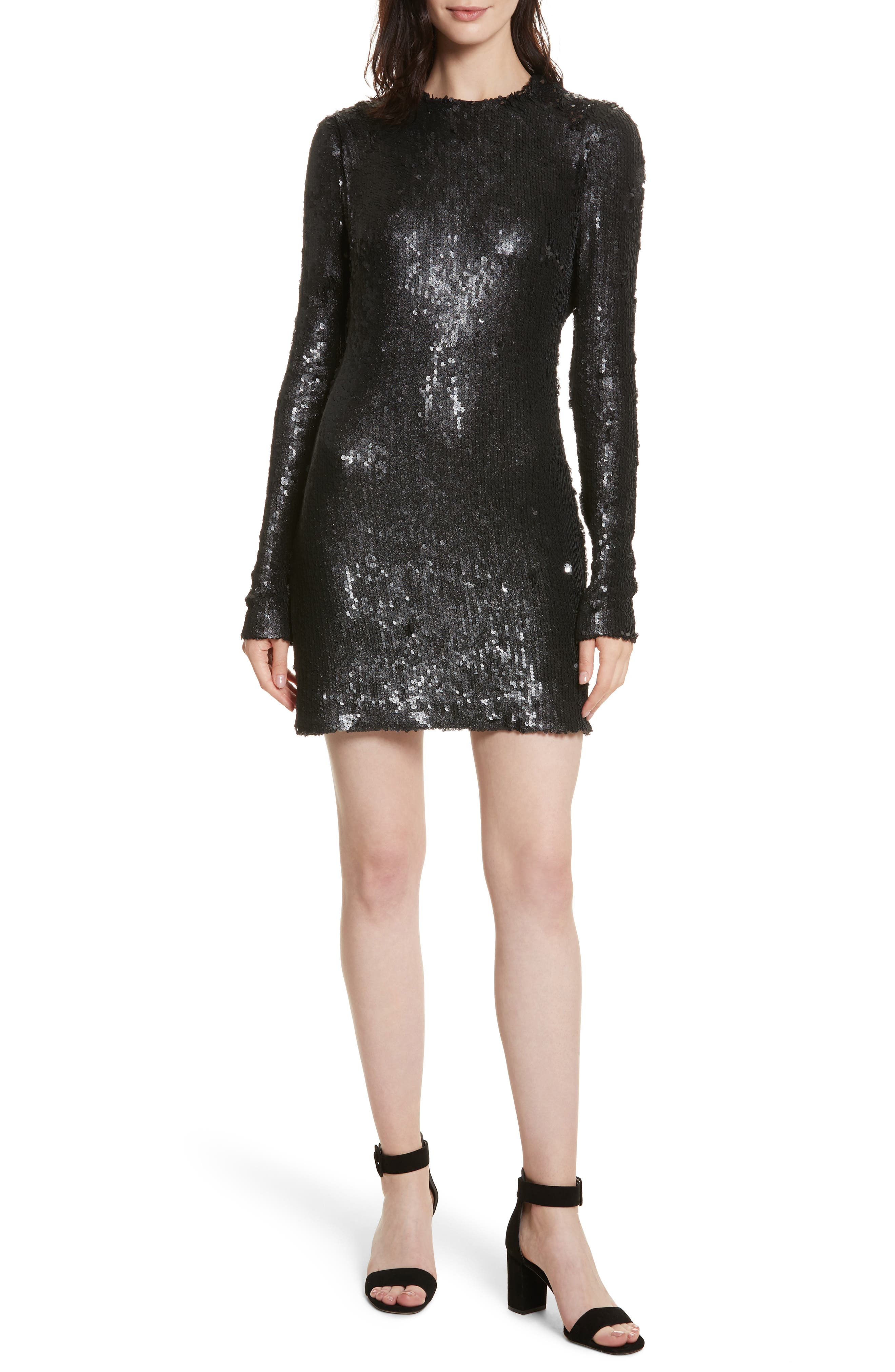 Nevin Sequin Minidress,                         Main,                         color, 001