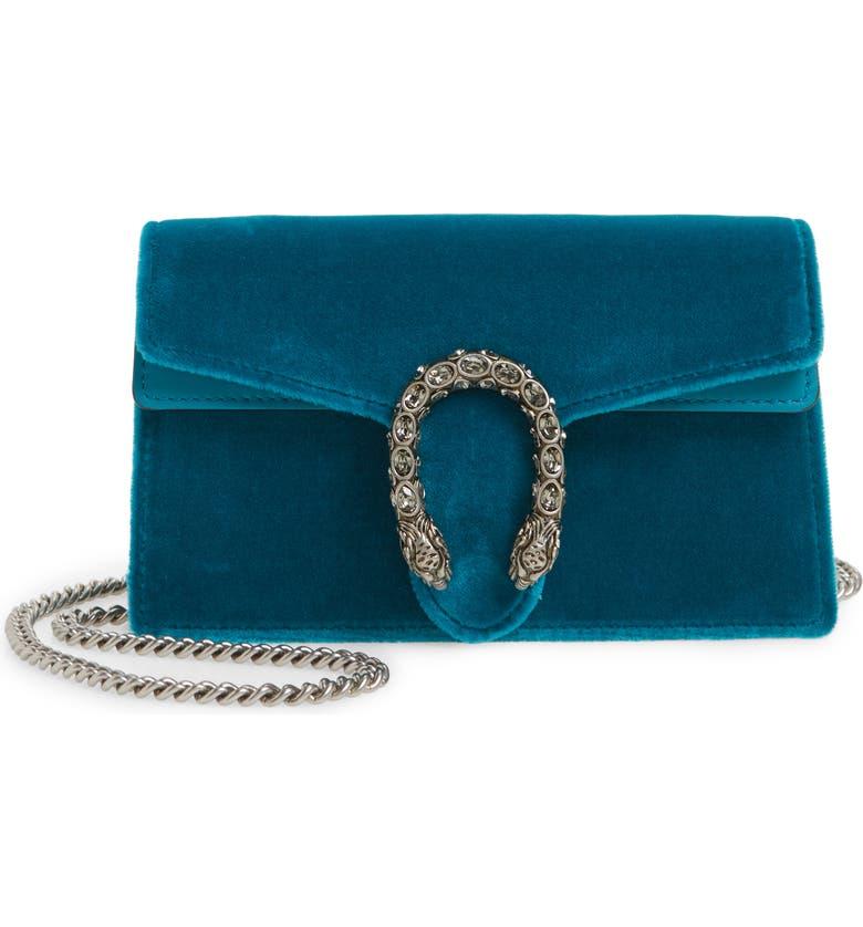 d007c0c7fb71 Gucci Super Mini Dionysus Velvet Shoulder Bag