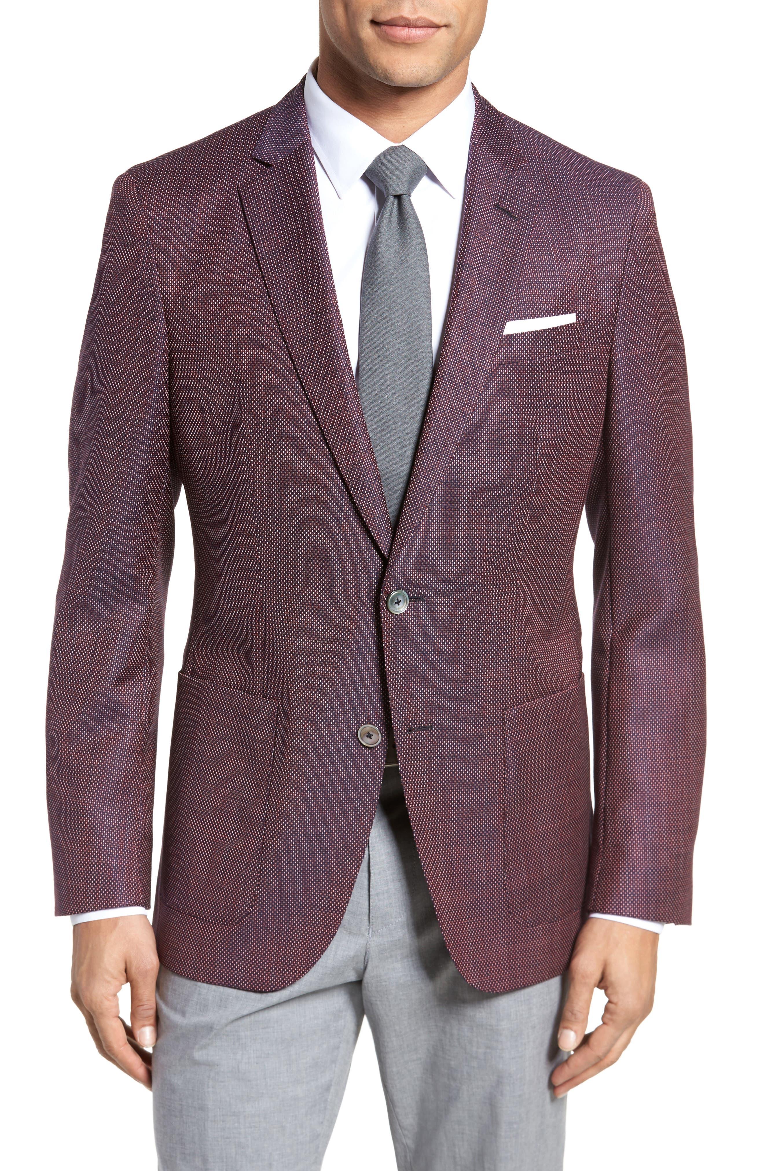 Henten Trim Fit Wool Blazer,                         Main,                         color, 600