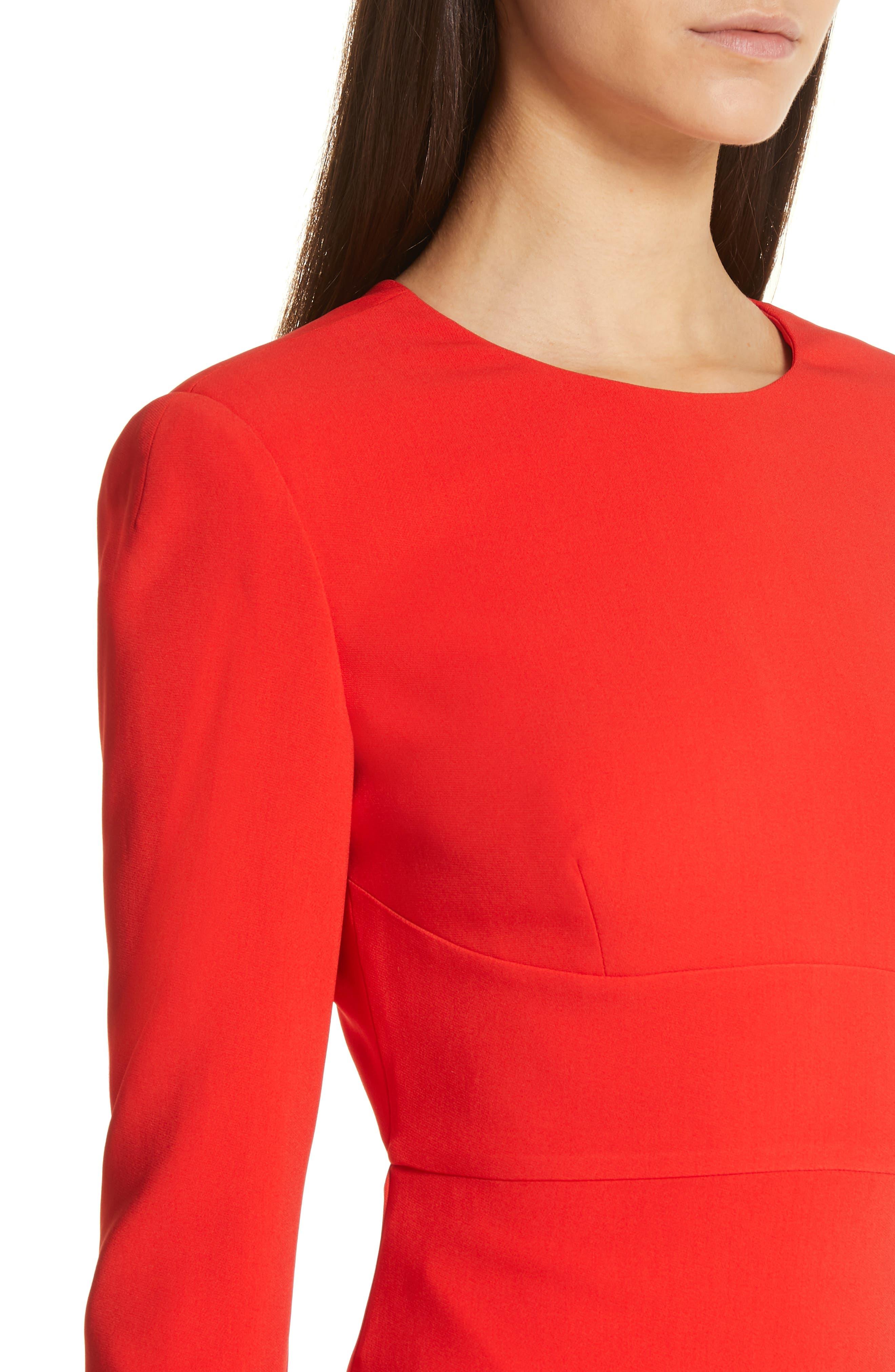Ruby Cutout Sheath Gown,                             Alternate thumbnail 4, color,                             SCARLET