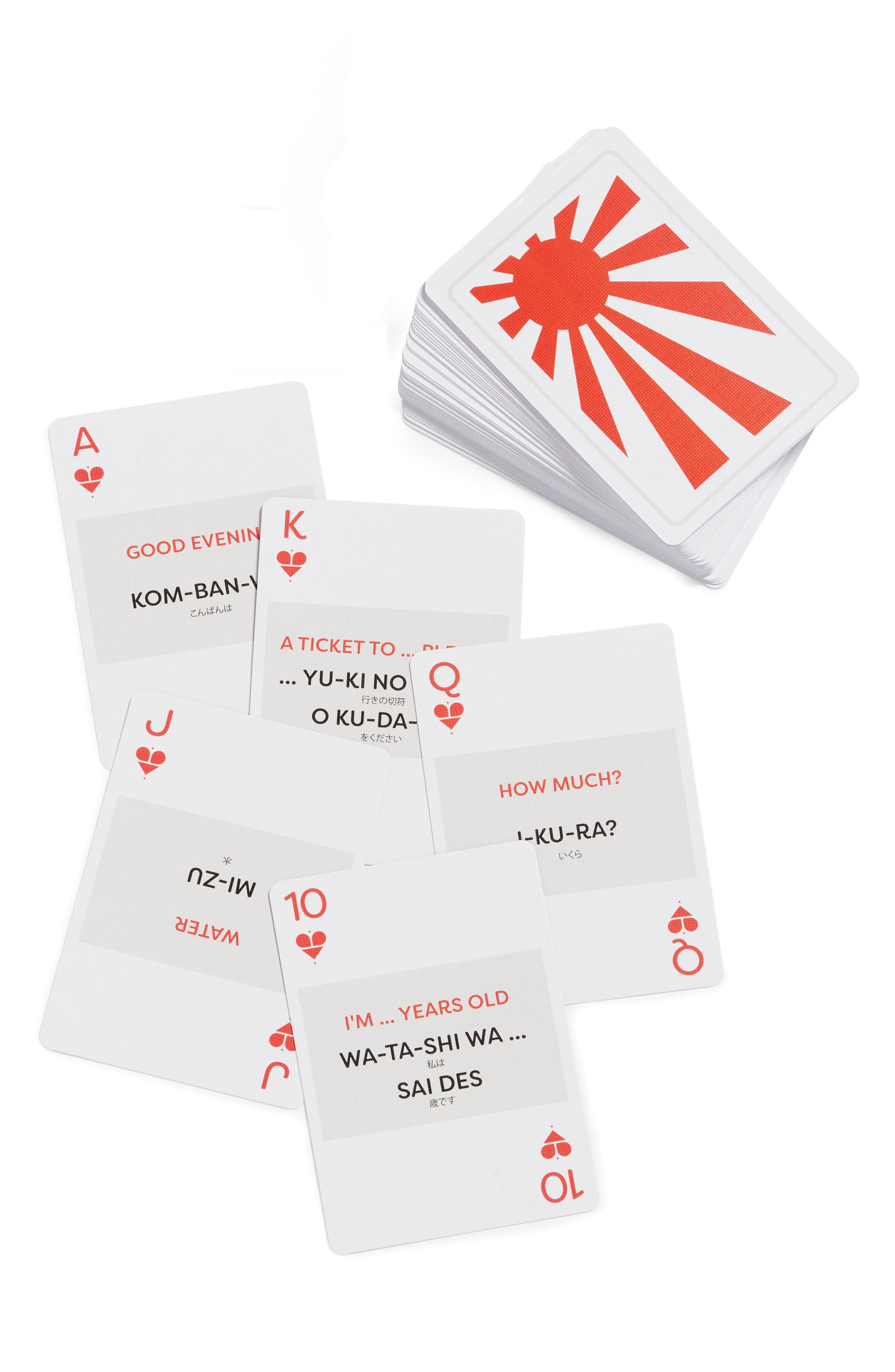 LINGO CARDS Language Playing Cards, Main, color, 100