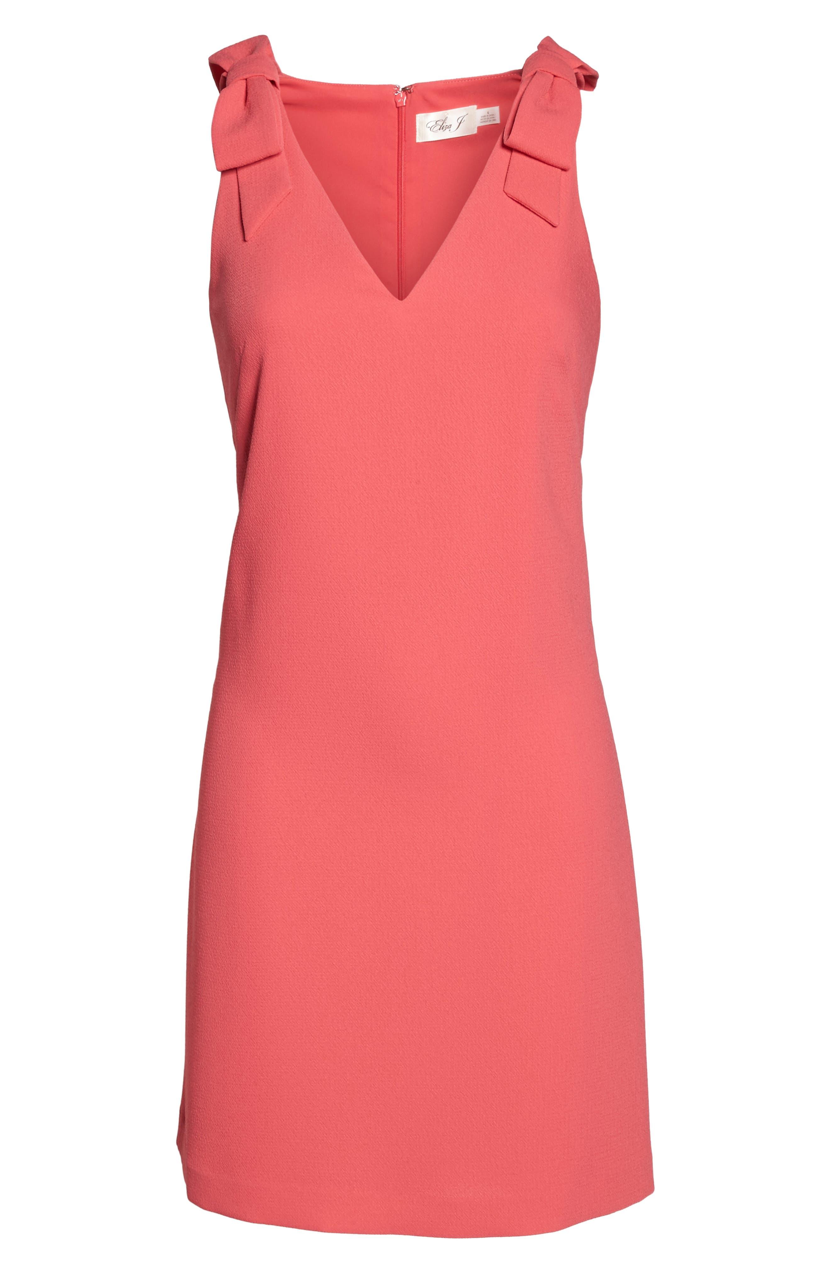 Bow Sheath Dress,                             Alternate thumbnail 12, color,
