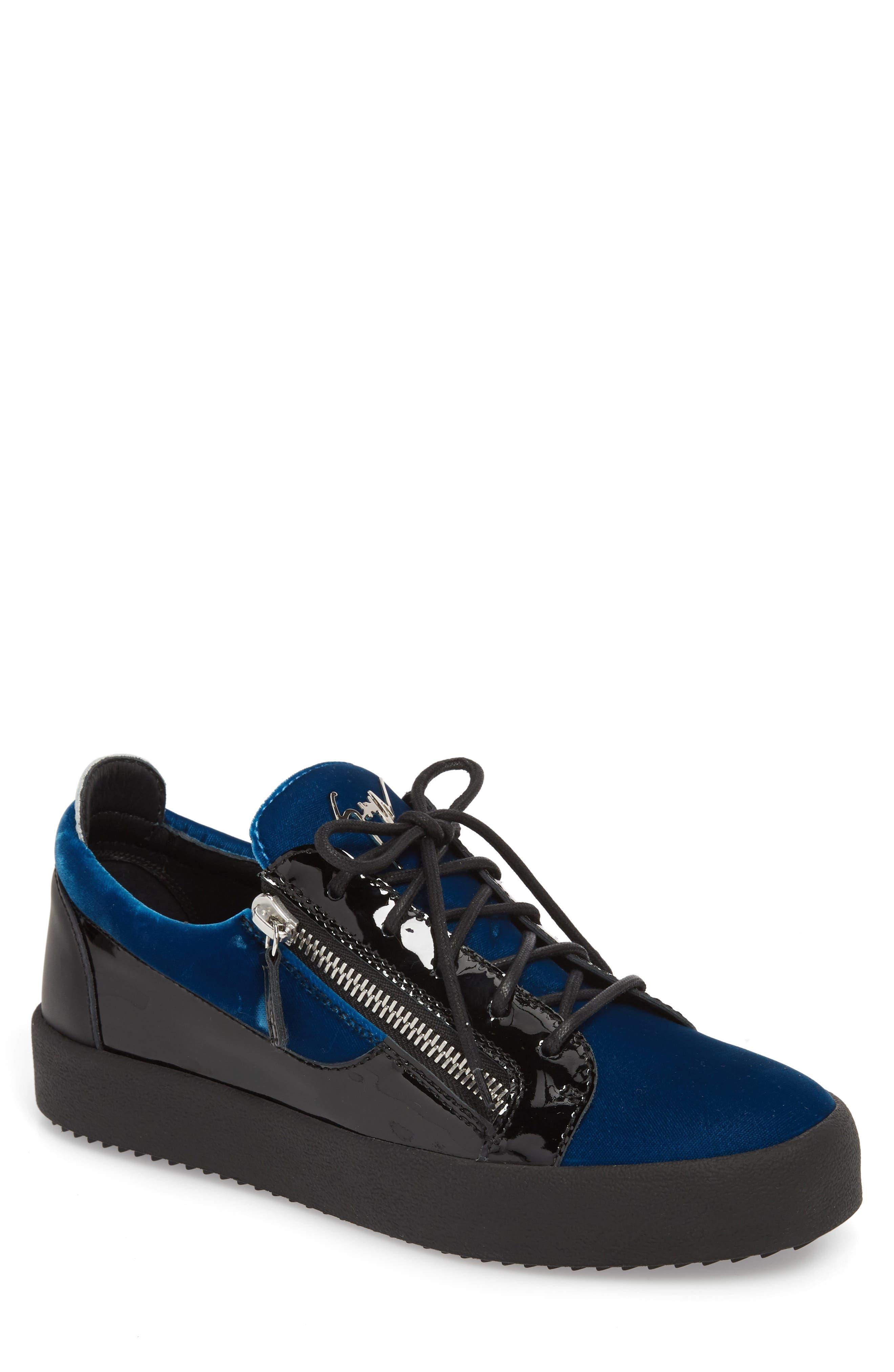 Camo Sneaker,                             Main thumbnail 1, color,                             BLUE